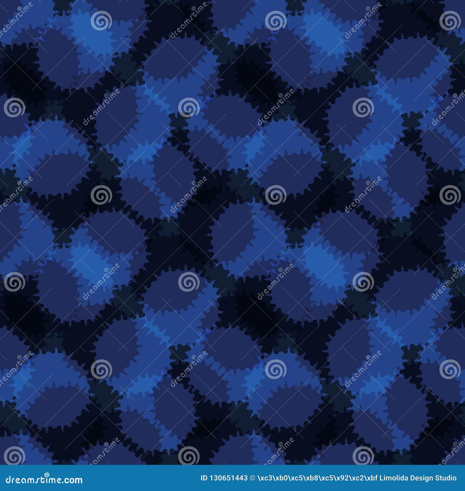 Полька сини индиго конспекта ставит точки безшовная картина вектора, Grungy руки вычерченное