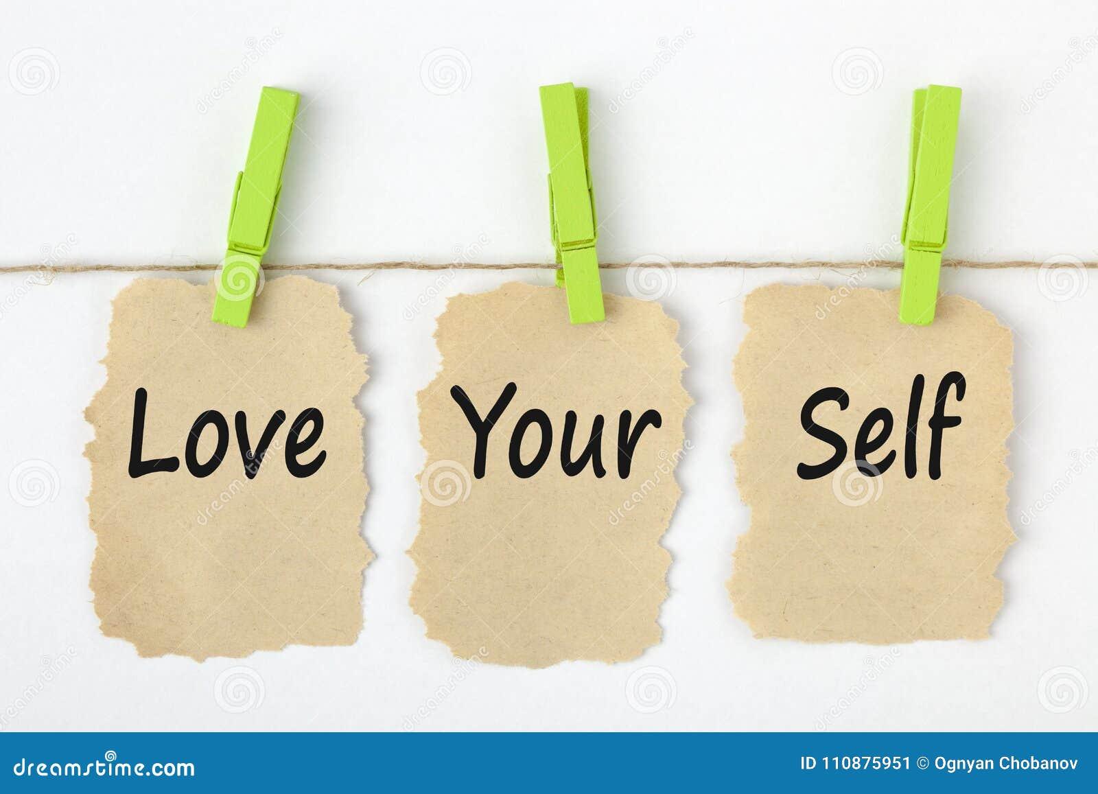 Полюбите ваши слова концепции собственной личности