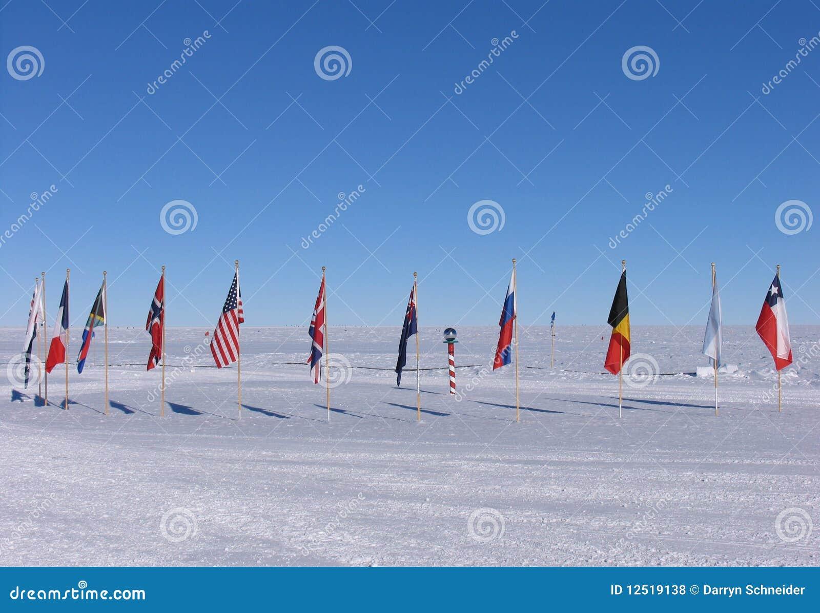 полюс флагов южный