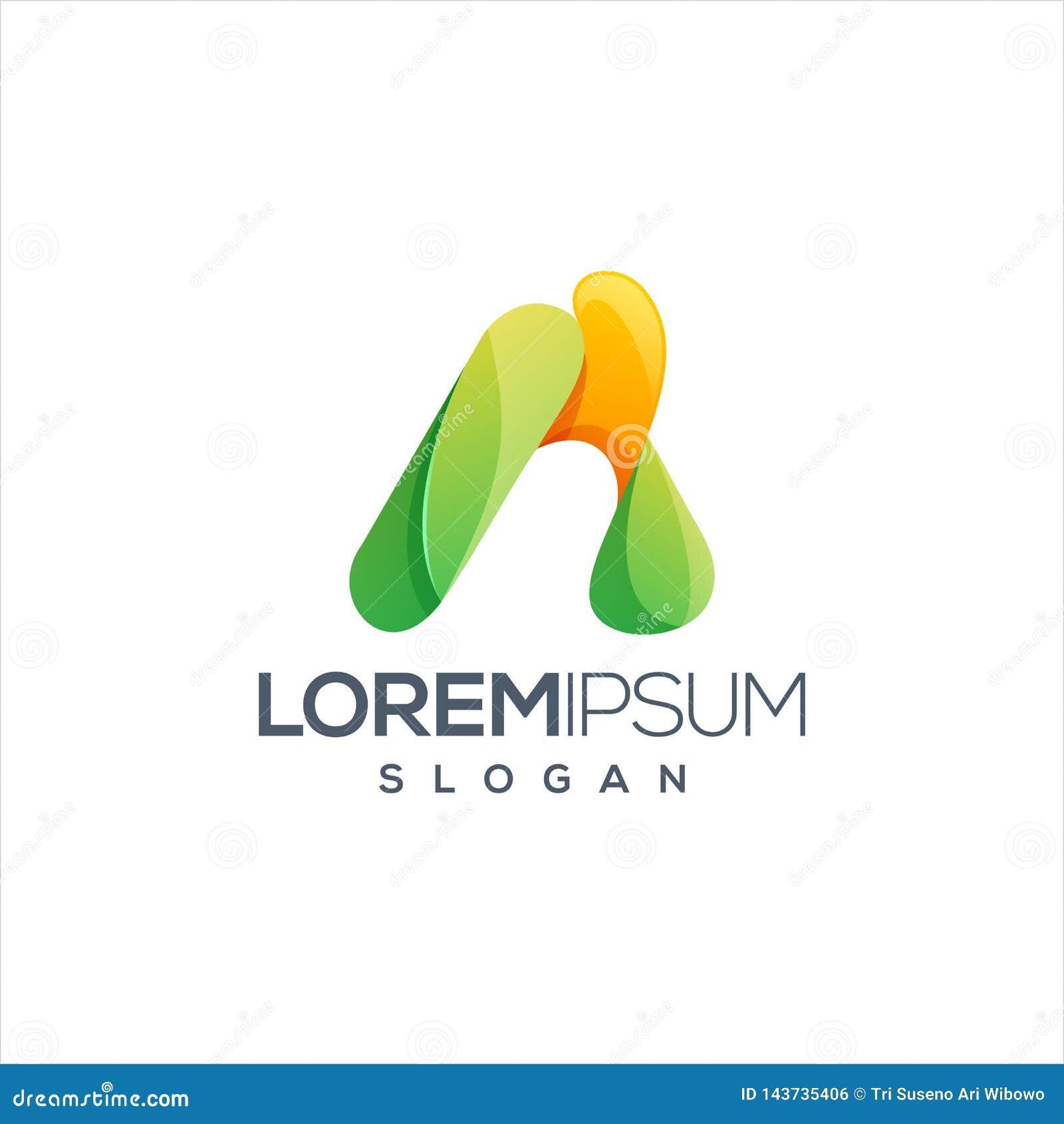 Пометьте буквами дизайн логотипа красочный и подготавливайте se t u для вашей компании