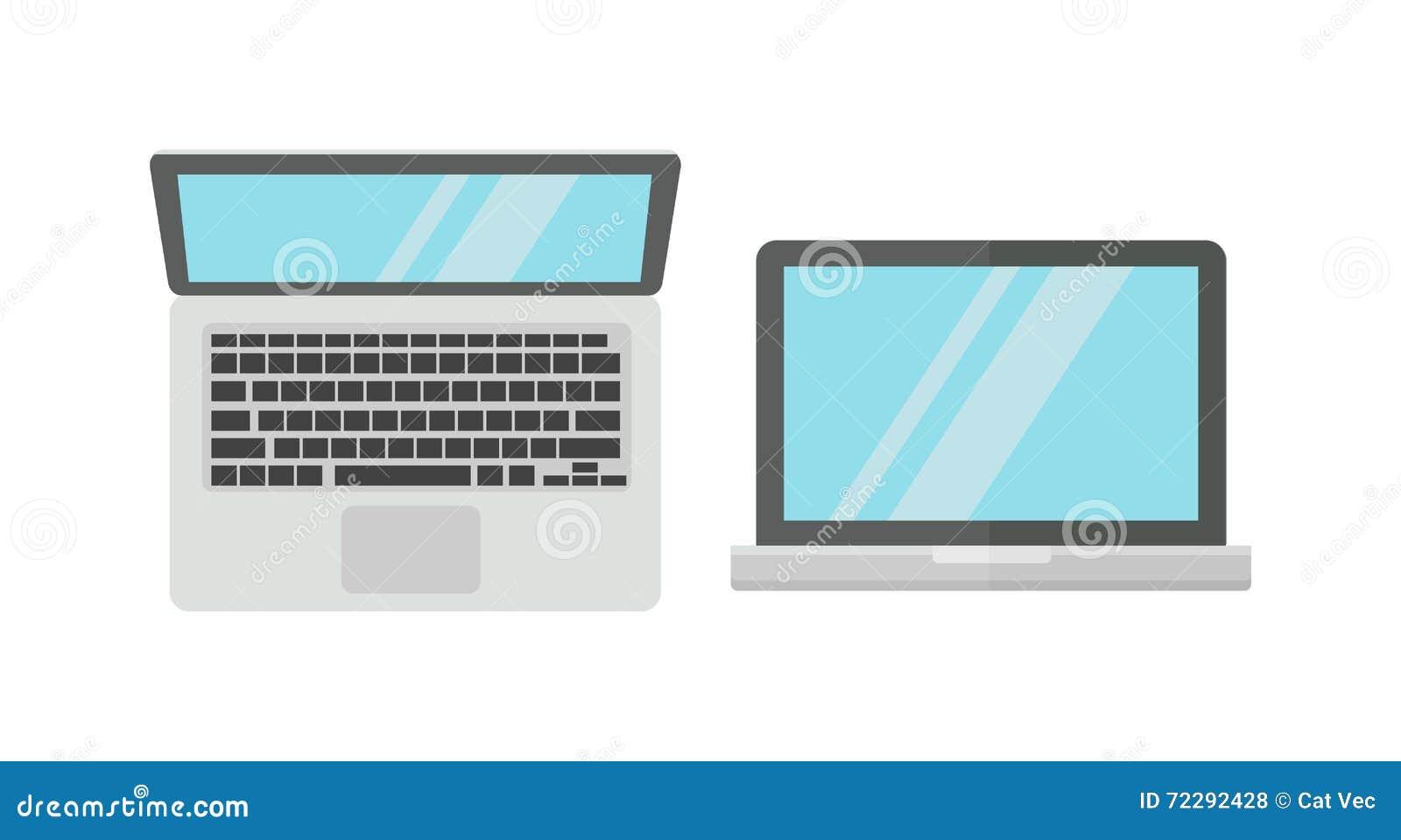Download Портативный компьютер изолированный на белой предпосылке Иллюстрация штока - иллюстрации насчитывающей дисплей, desktop: 72292428