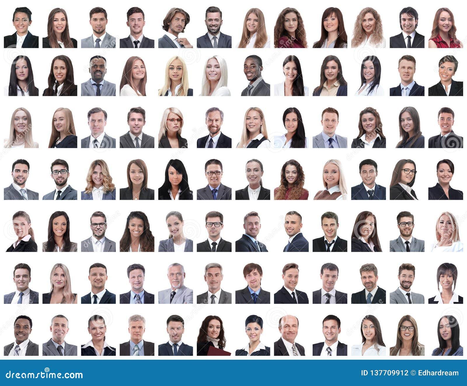 Портреты успешных работников на белизне