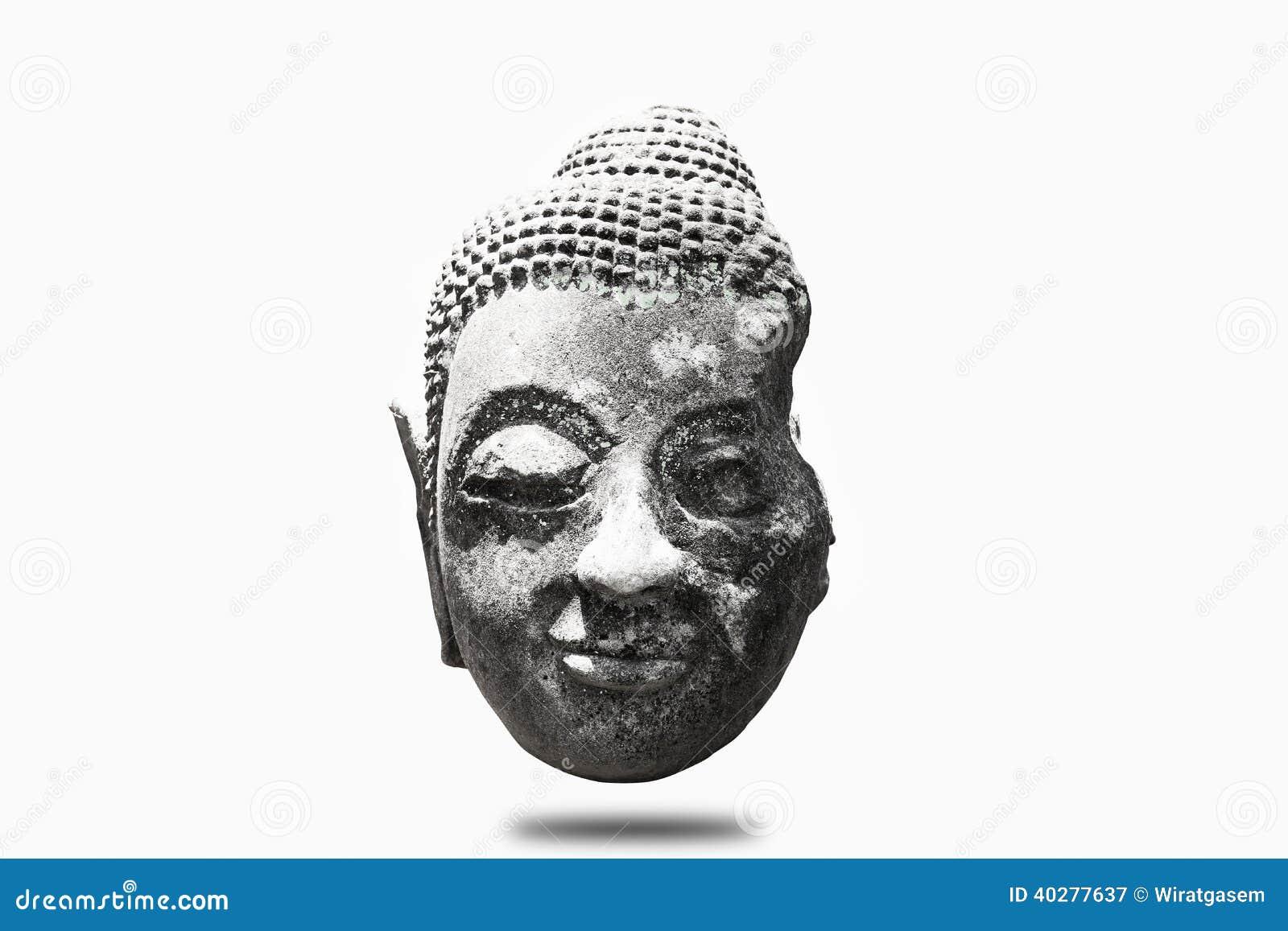 Портрет Будды изолированный на белизне