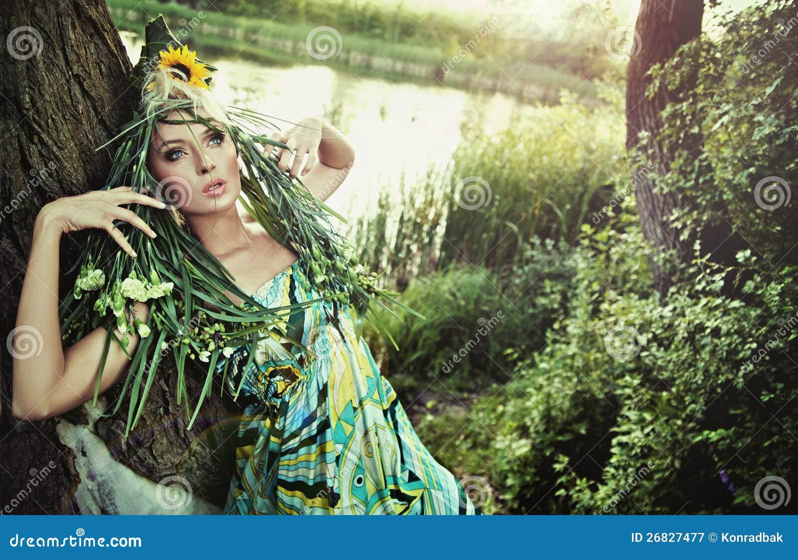 Портрет женщины красотки