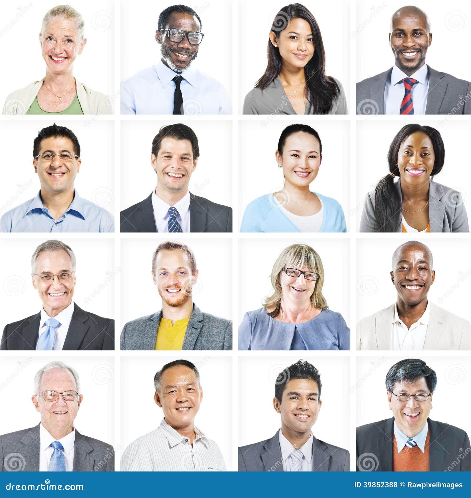 Портрет многонациональных разнообразных бизнесменов