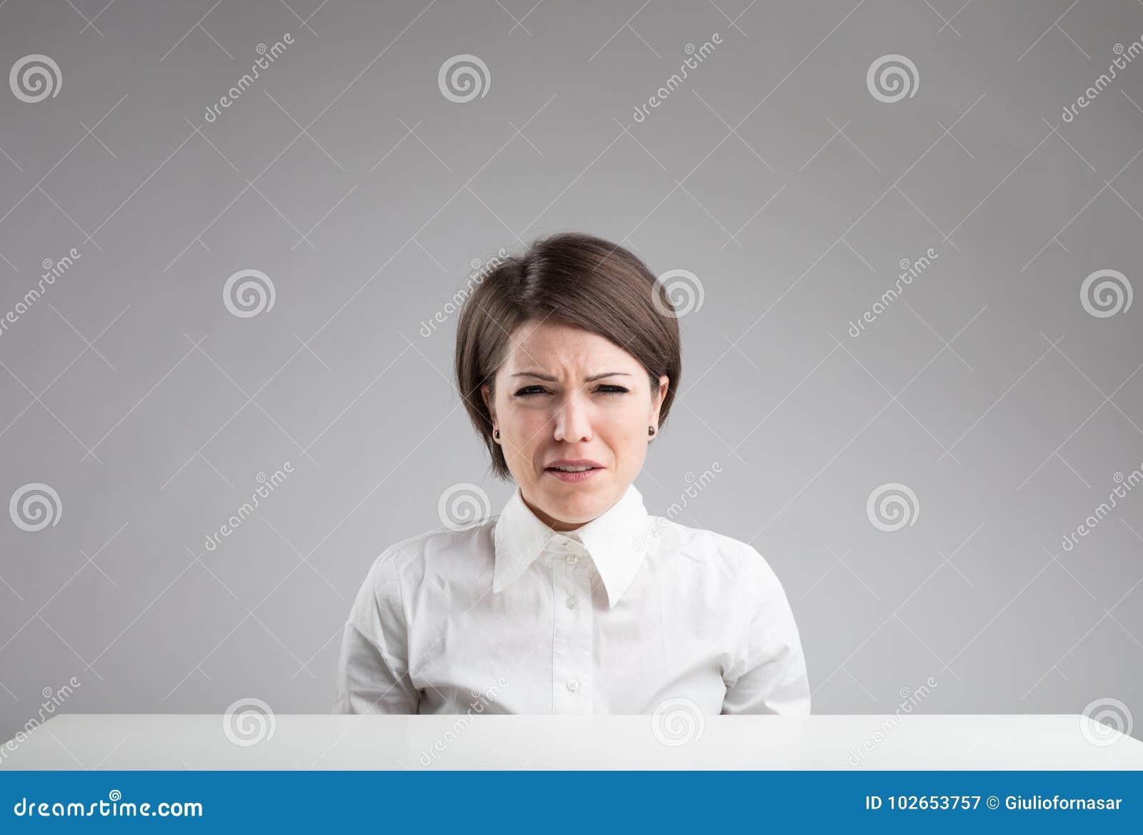 Портрет очень унылой женщины