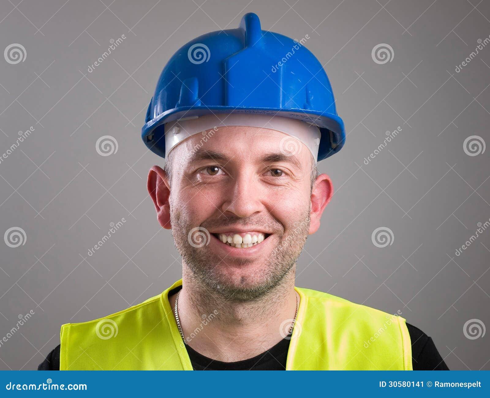 Портрет работника выражая позитивность