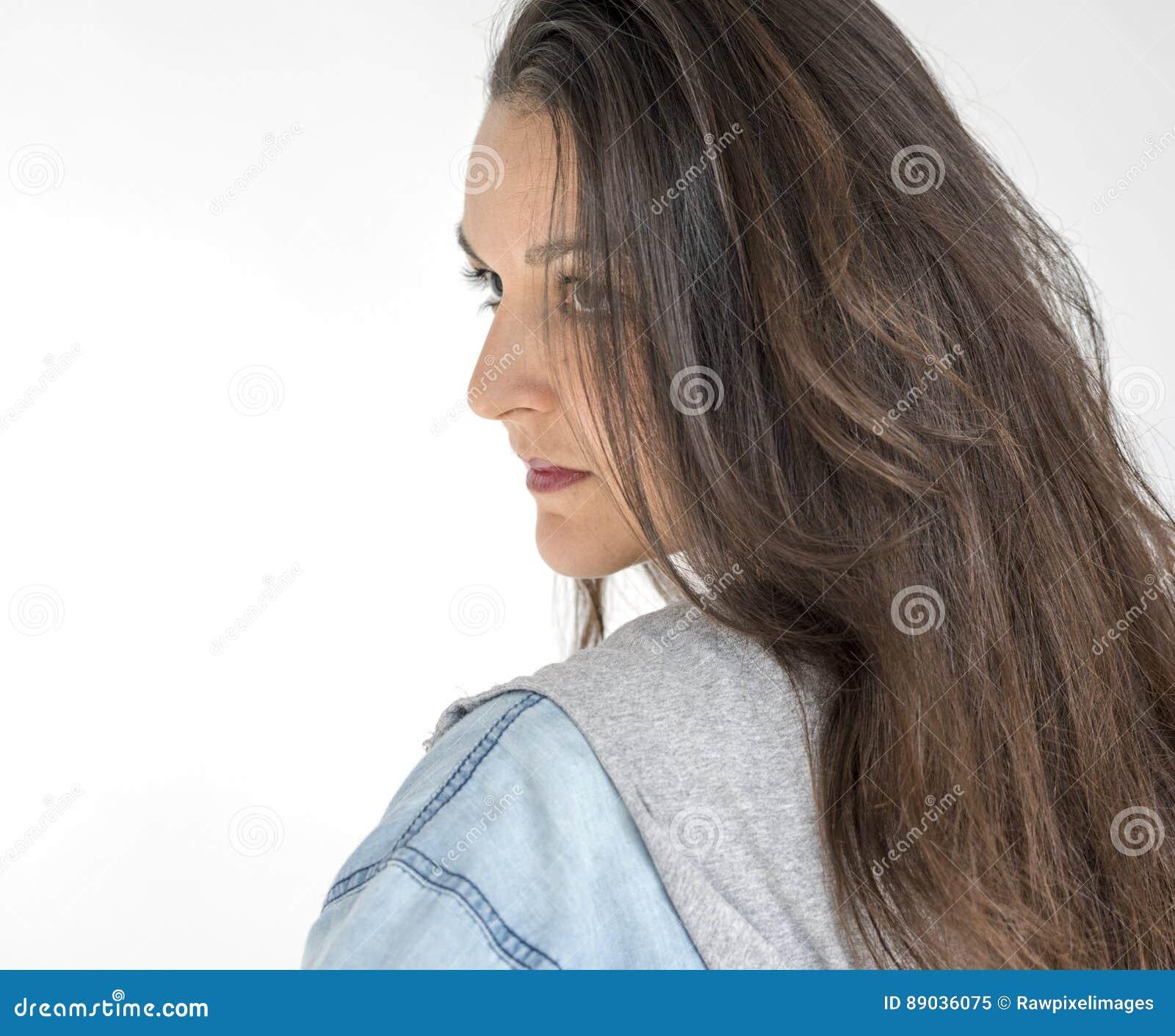Портрет студии самоуважения доверия женщины