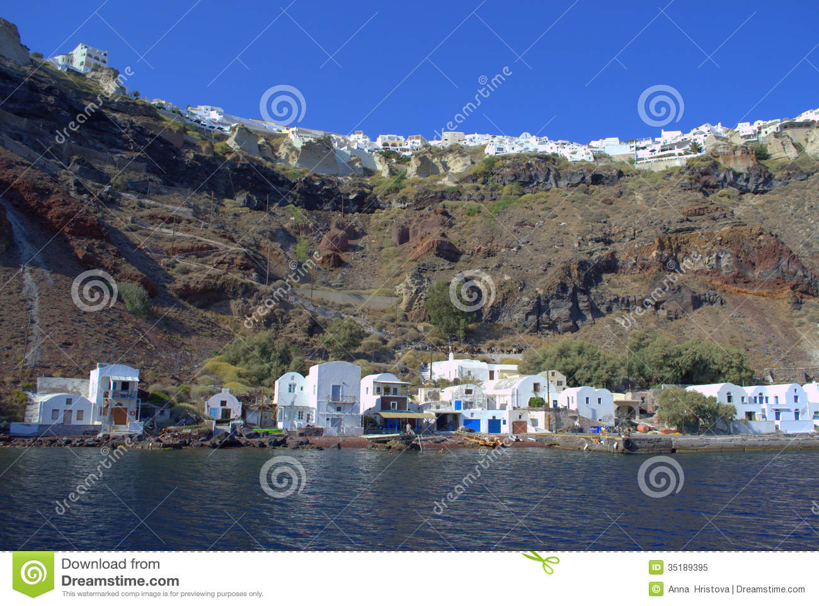 Порт Oia, Santorini, Греция
