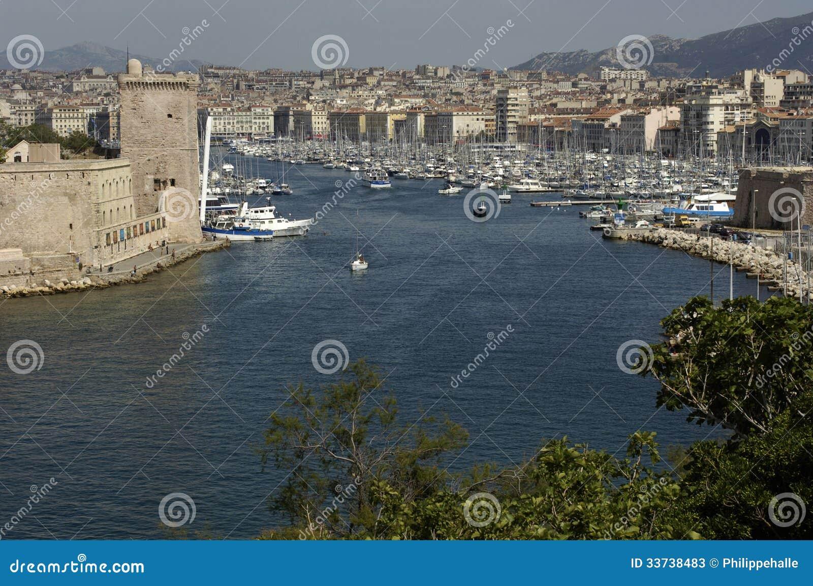 Порт Vieux в марселе в Провансали