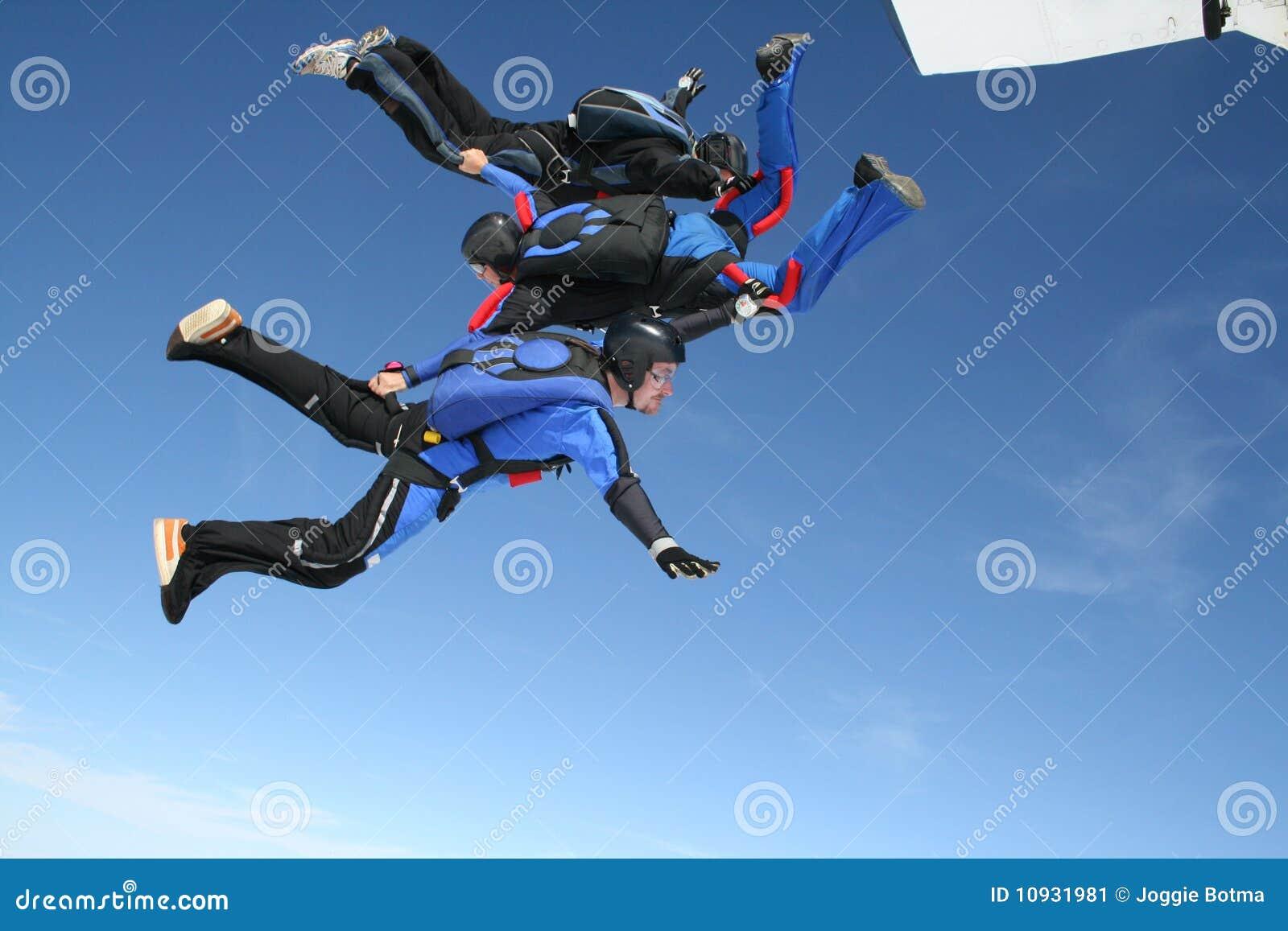 поскачите плоские skydivers 3