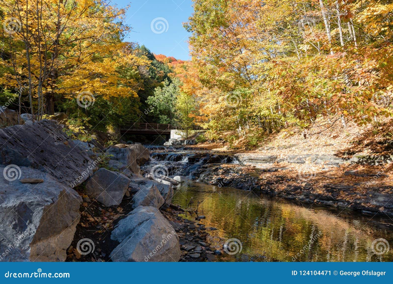 После полудня осени потоком горы
