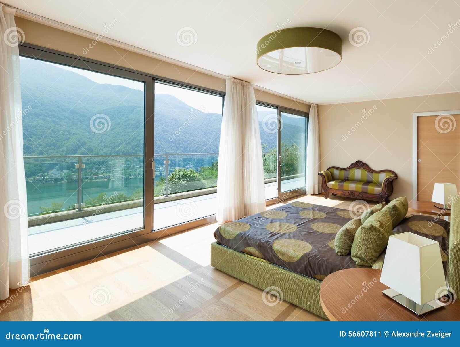 Поставленная квартира, спальня