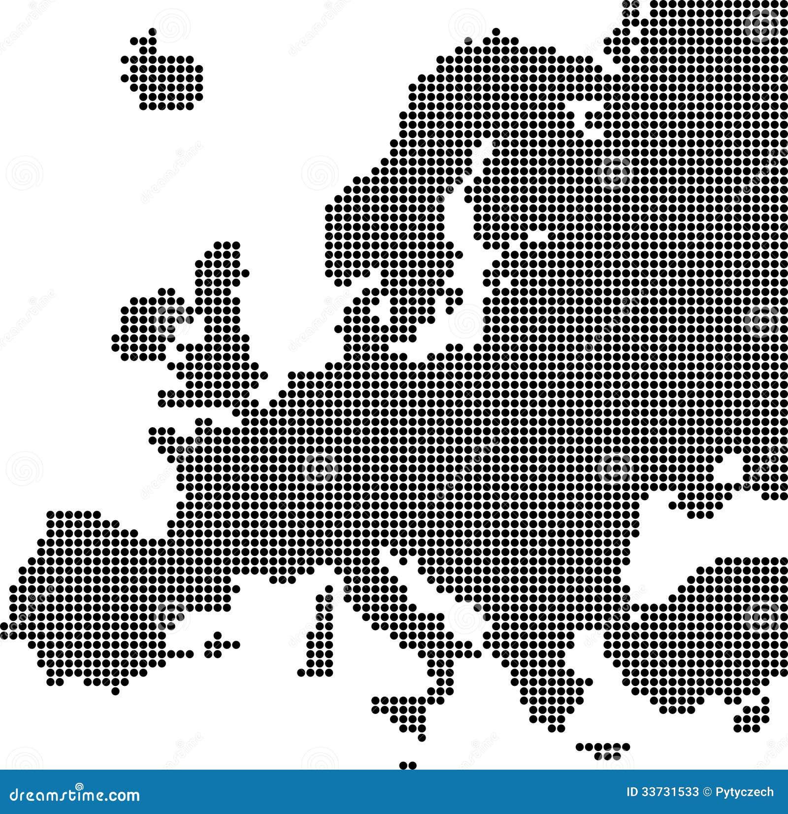 Поставленная точки карта Европы