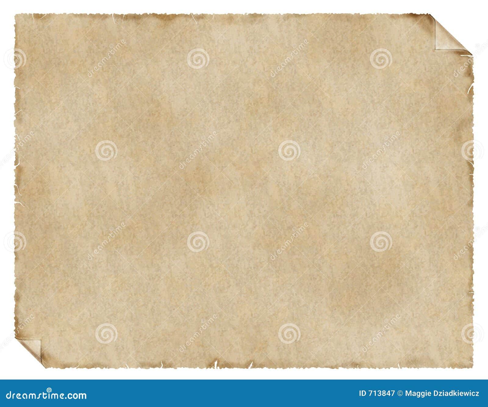 постаретая бумага