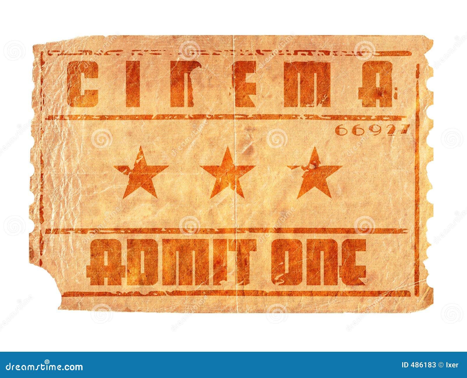 постаретый билет кино