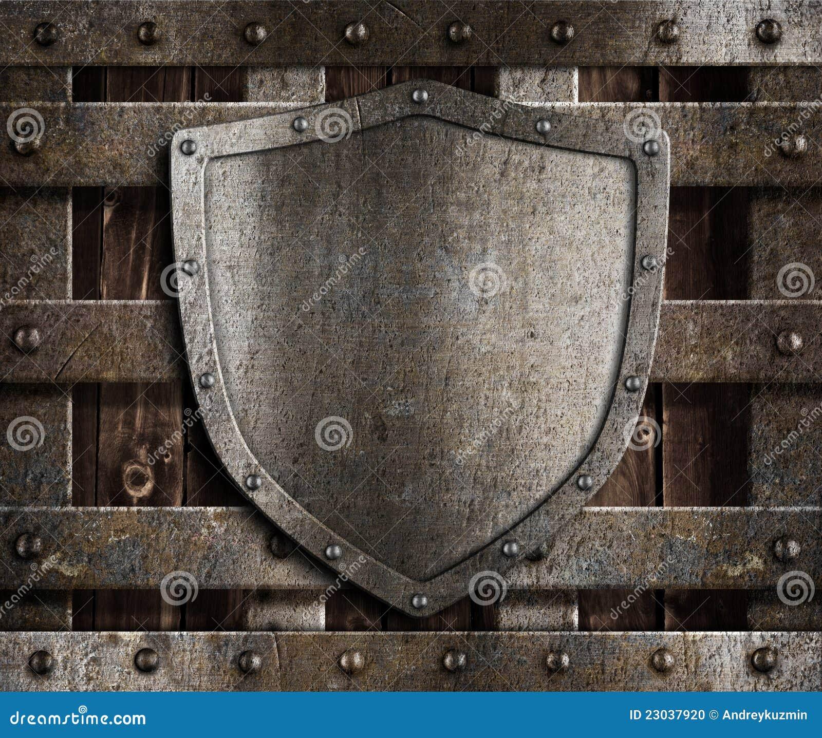 постаретый экран металла стробов средневековый деревянный