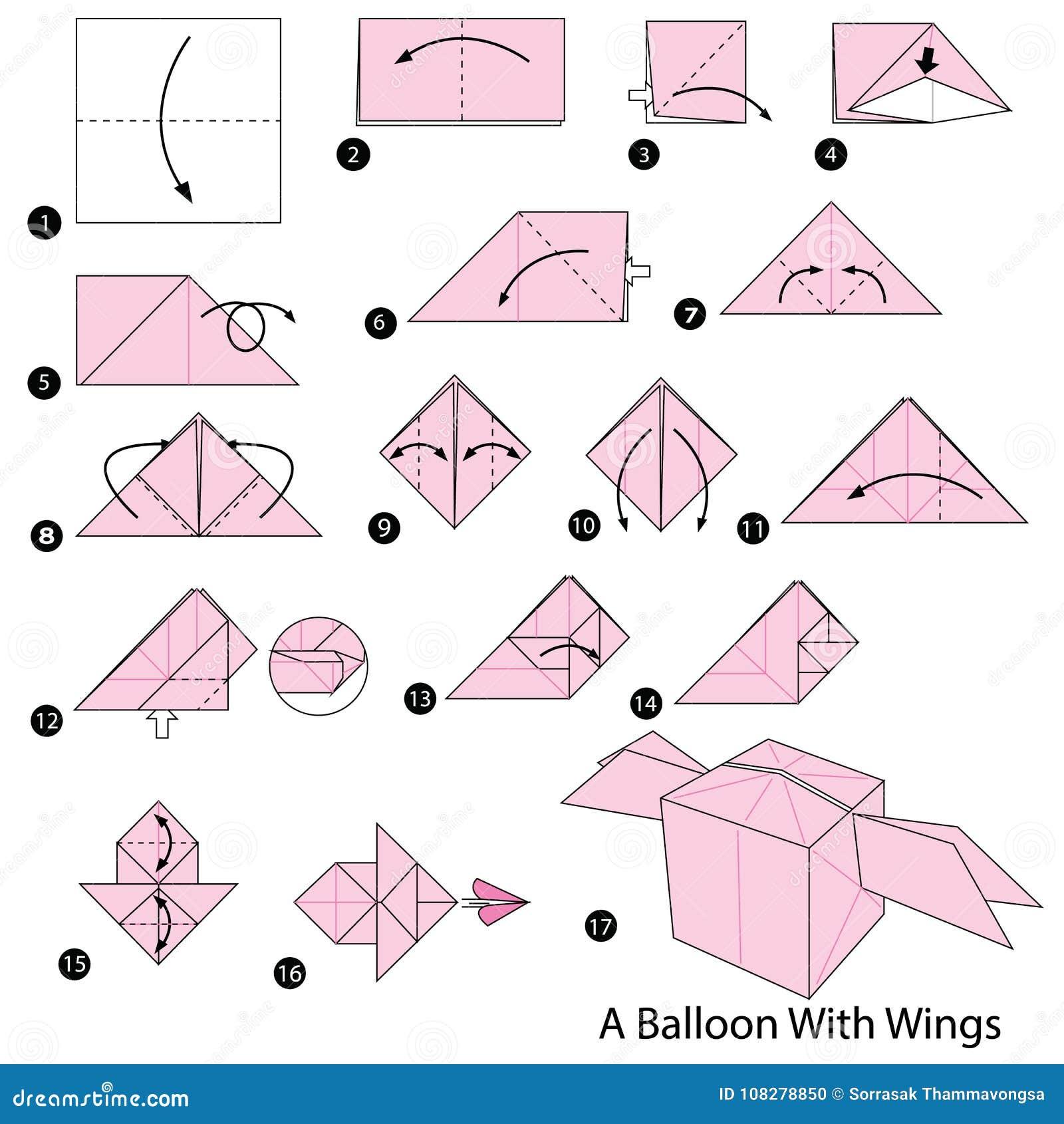 Оригами как сделать воздушный шар фото 871