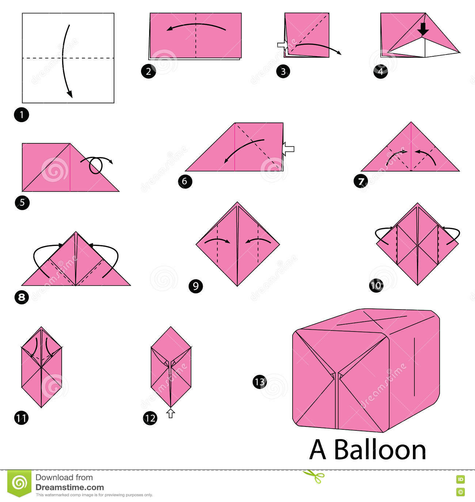 Оригами как сделать воздушный шар