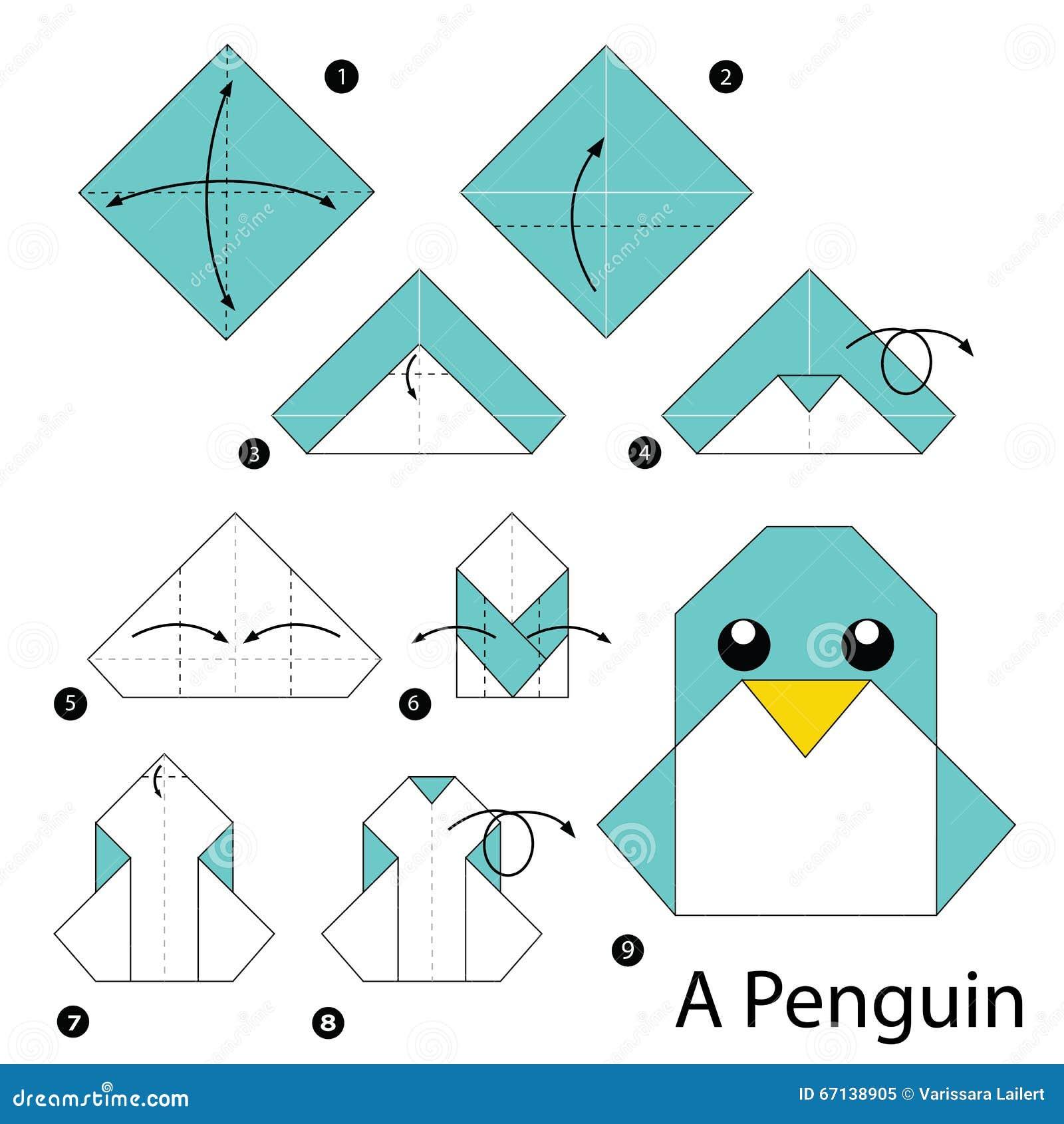 Инструкция оригами пингвин