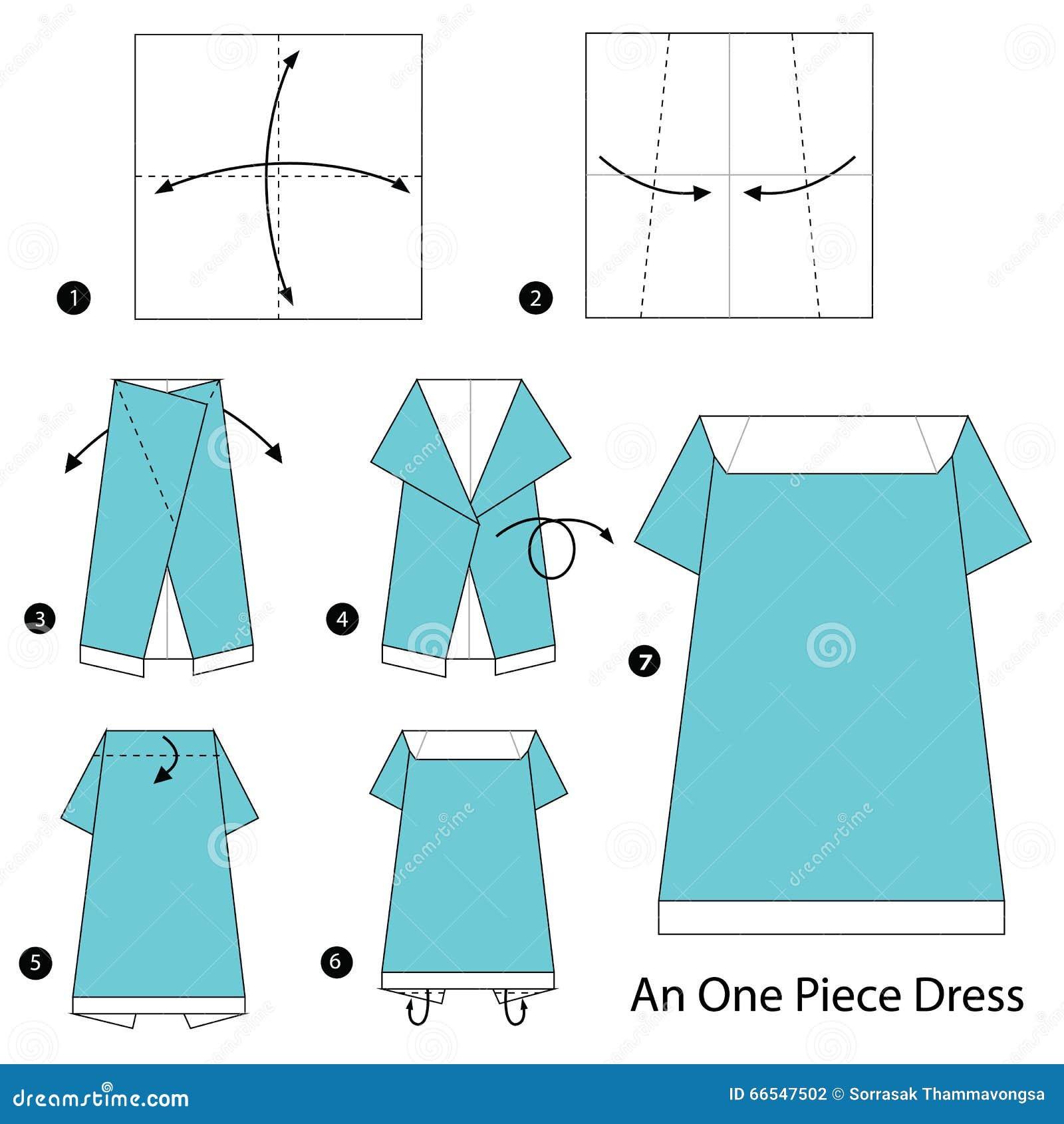 Пошагово платье из бумаги