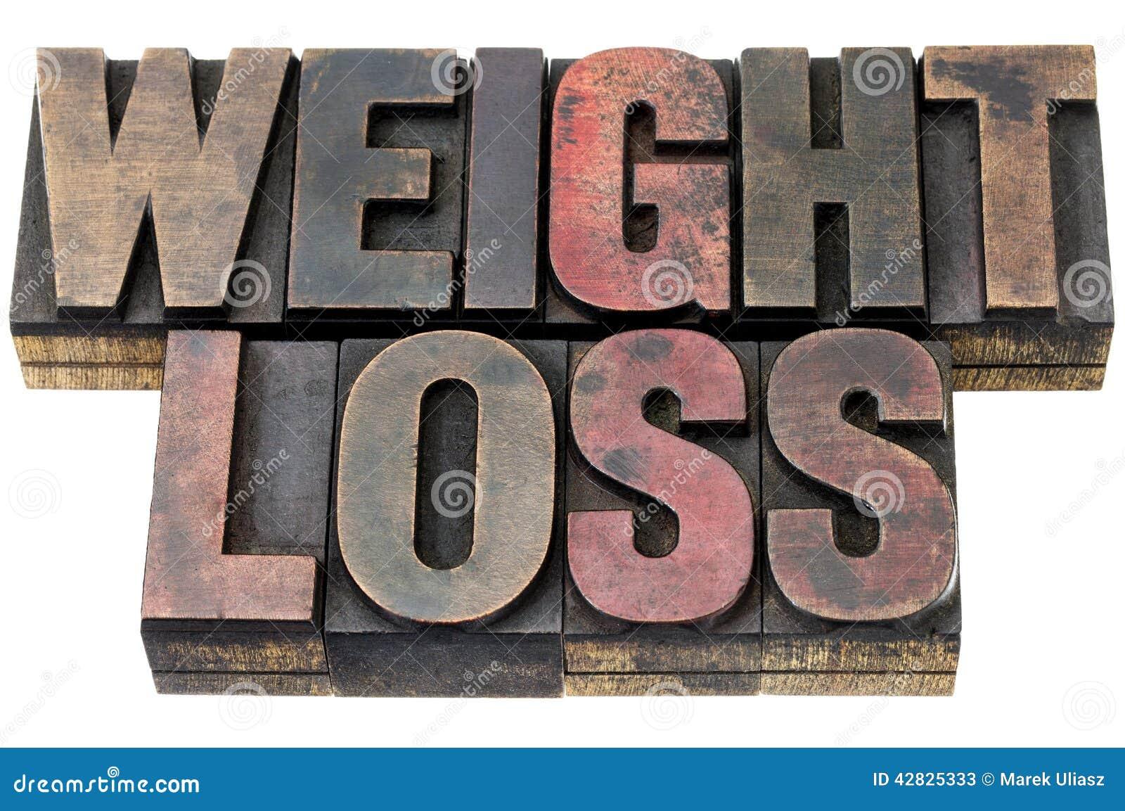 Потеря веса в деревянном типе