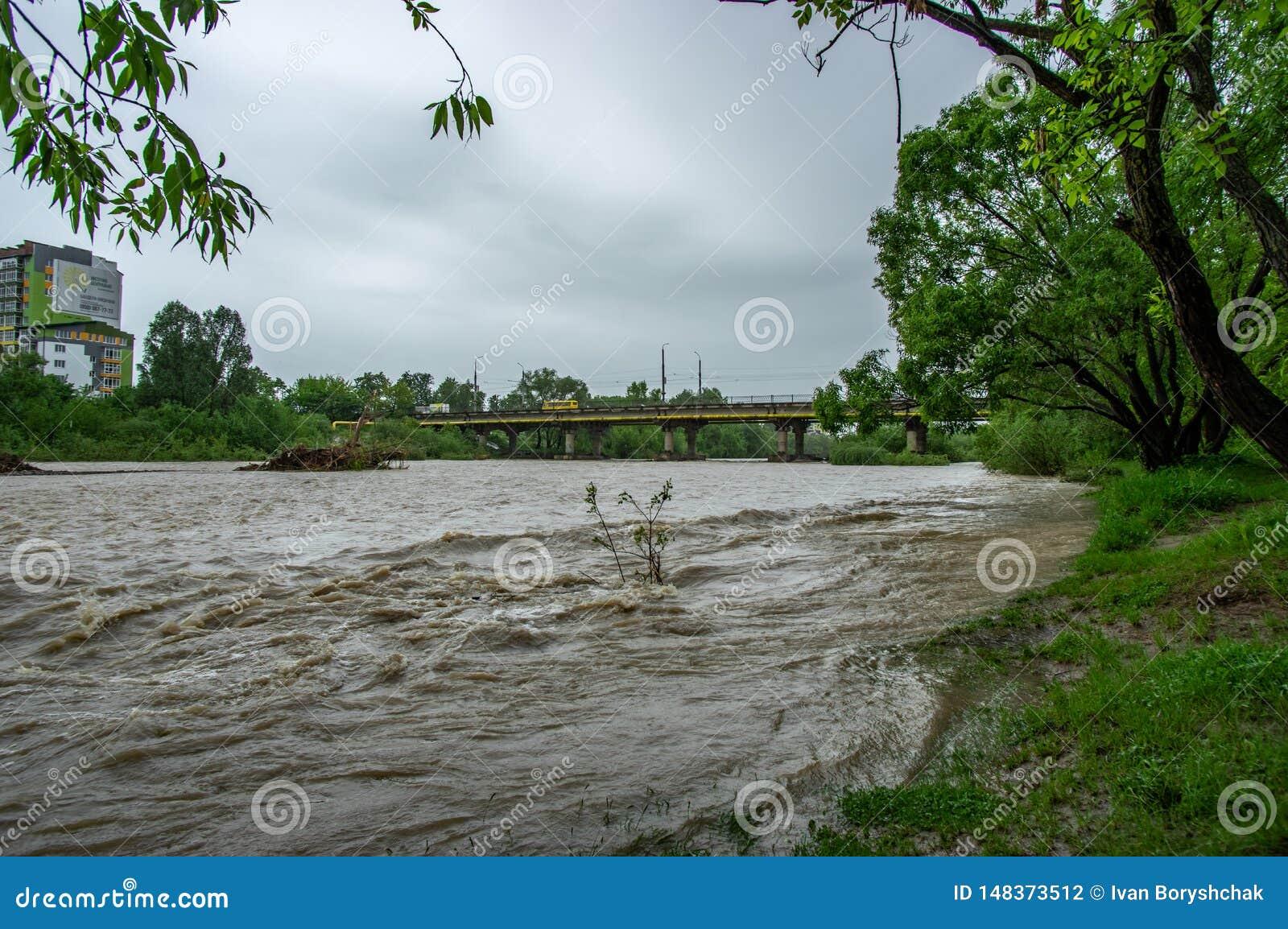 Поток весны на реке