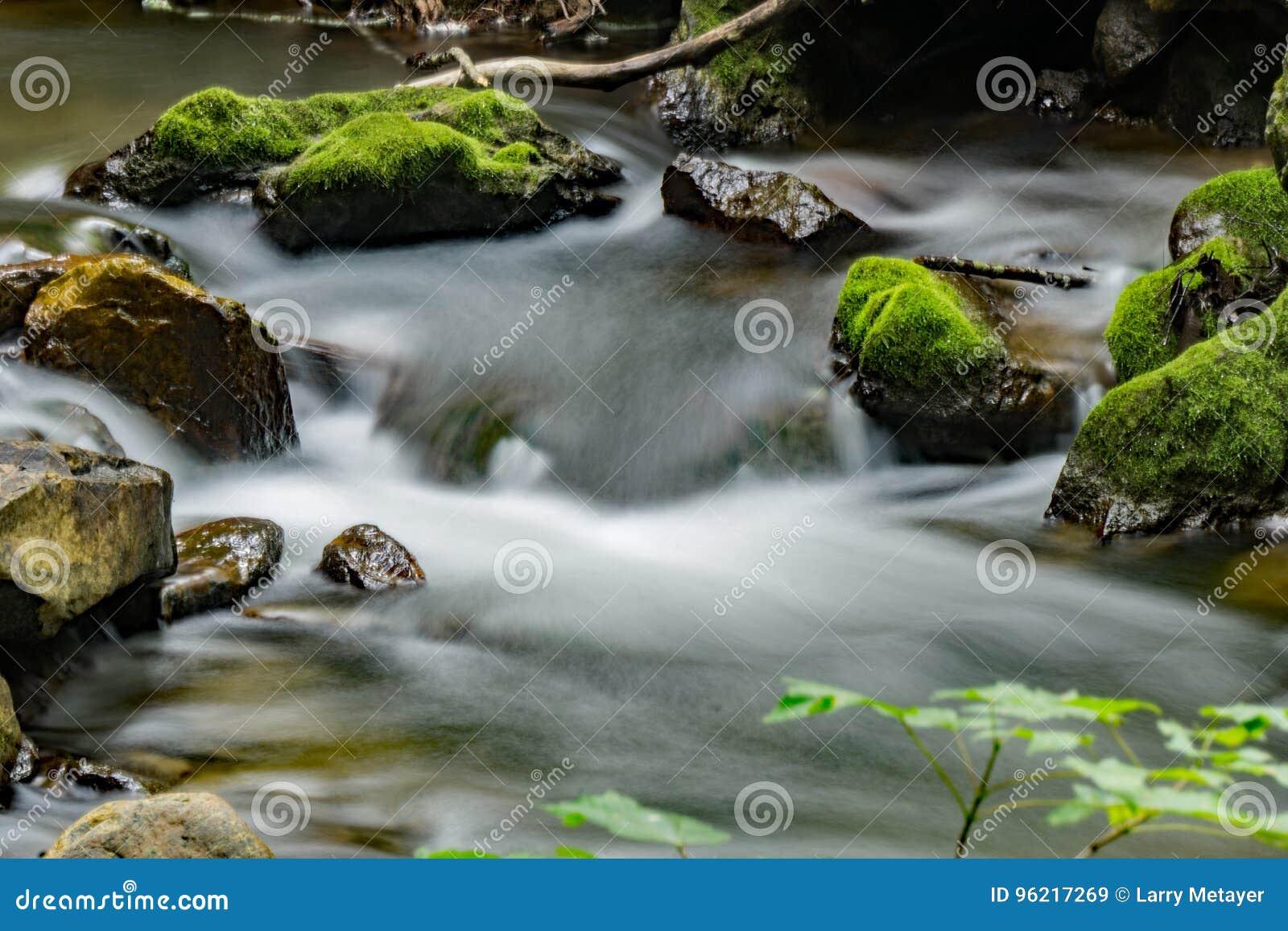 Поток, утесы и мох - 3