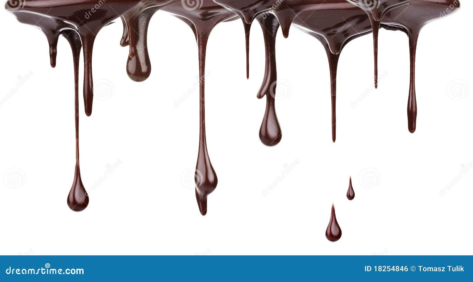 поток шоколада горячий