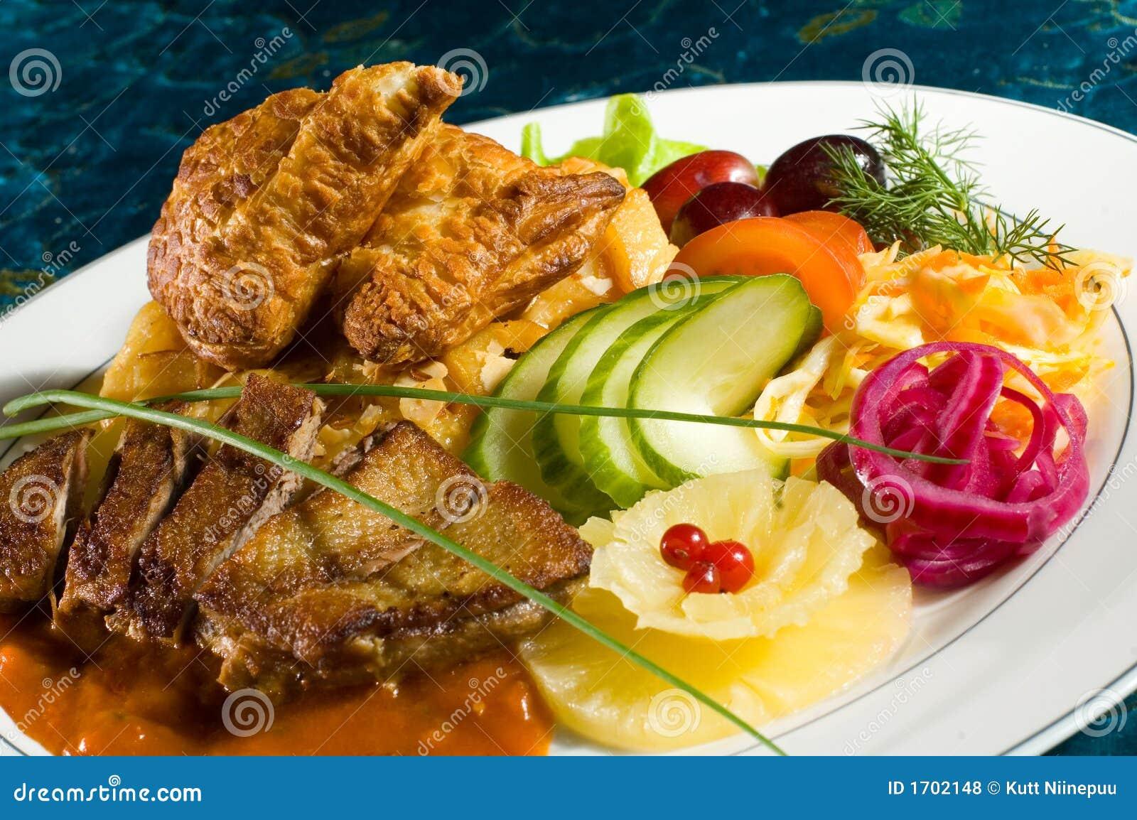потушенная закуска утки