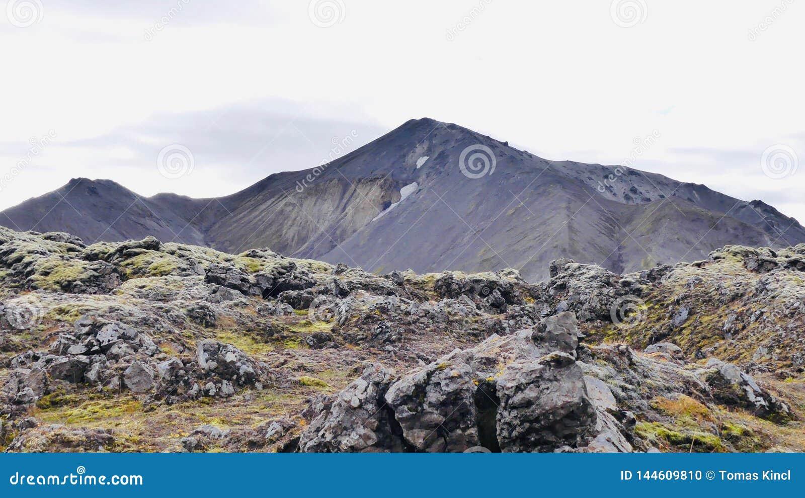 Поход Skalli - Landmannalaugar, короткий трек близко к горячие источники