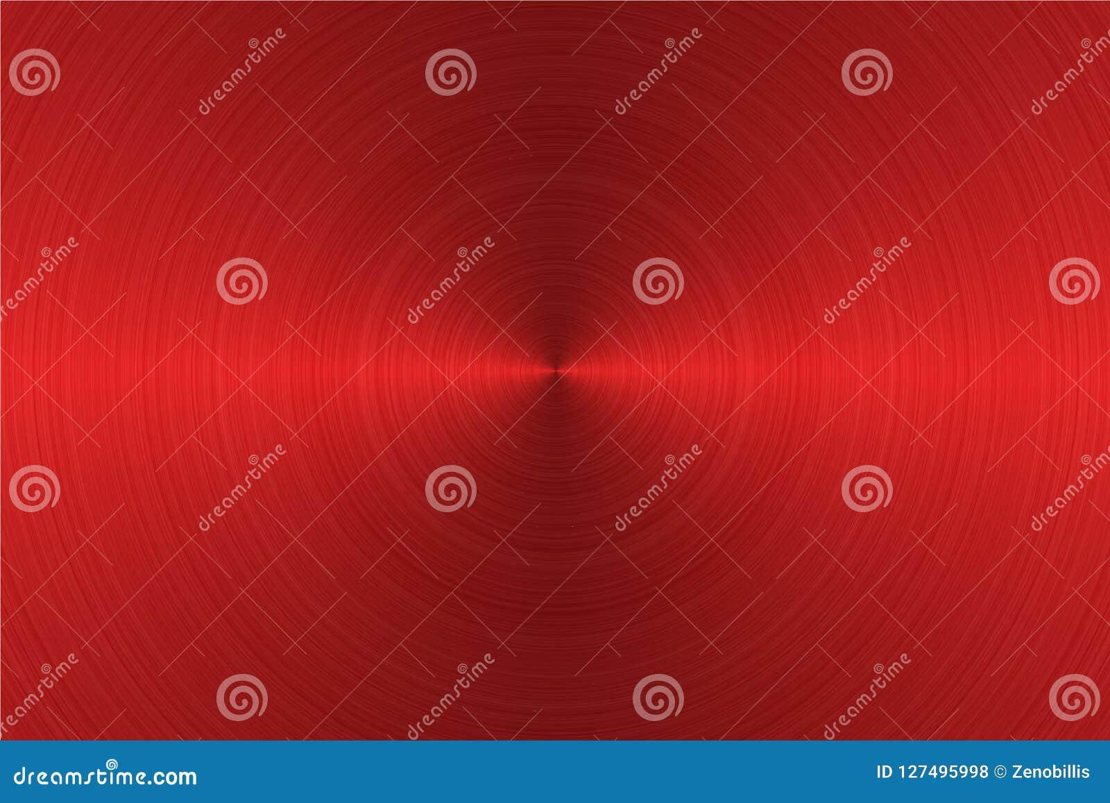 Почищенная щеткой круговая поверхность металла красного цвета также вектор иллюстрации притяжки corel