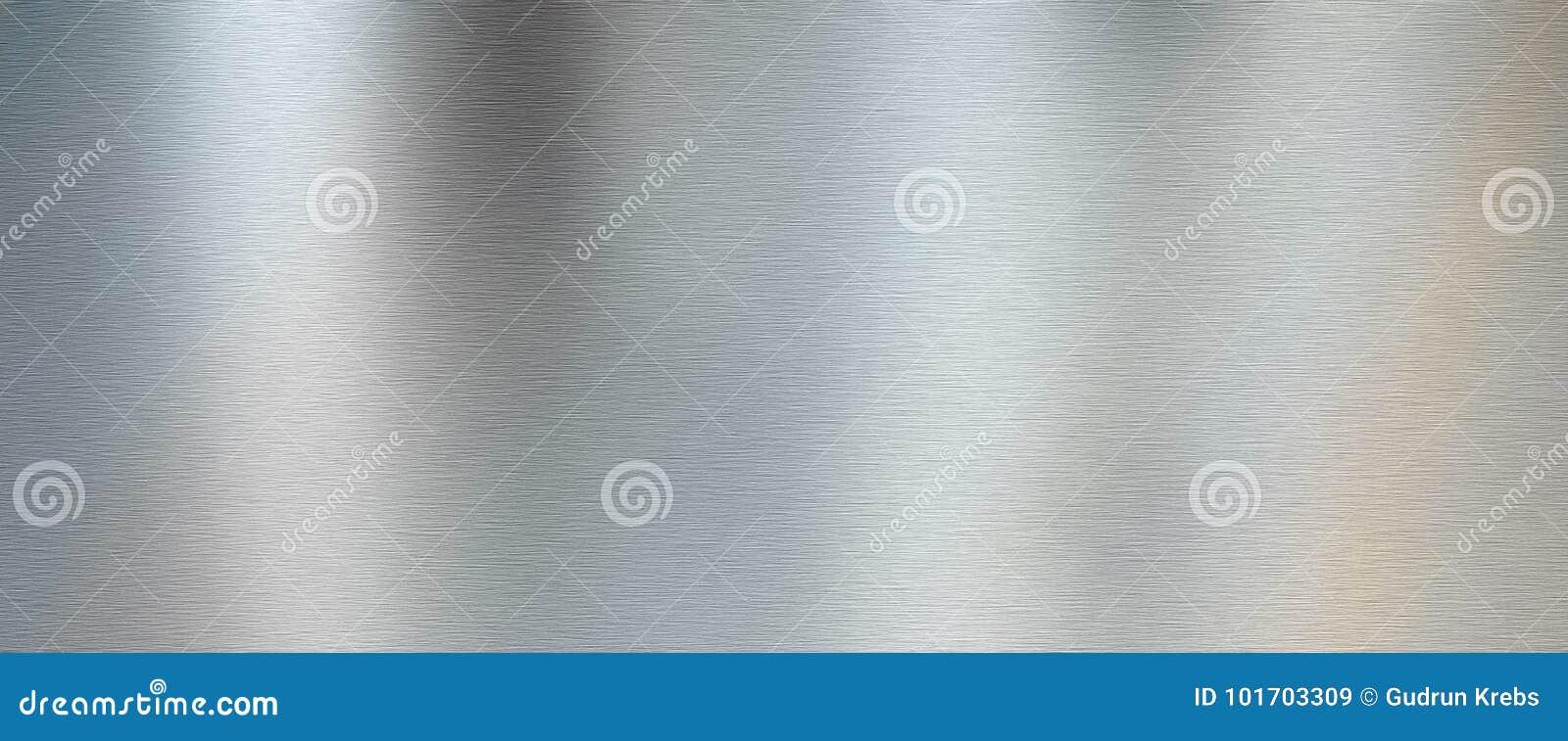 Почищенная щеткой серебром текстура металла