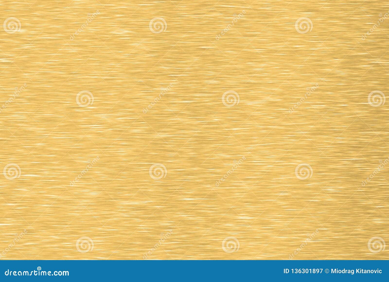 почищенная щеткой текстура металла золота