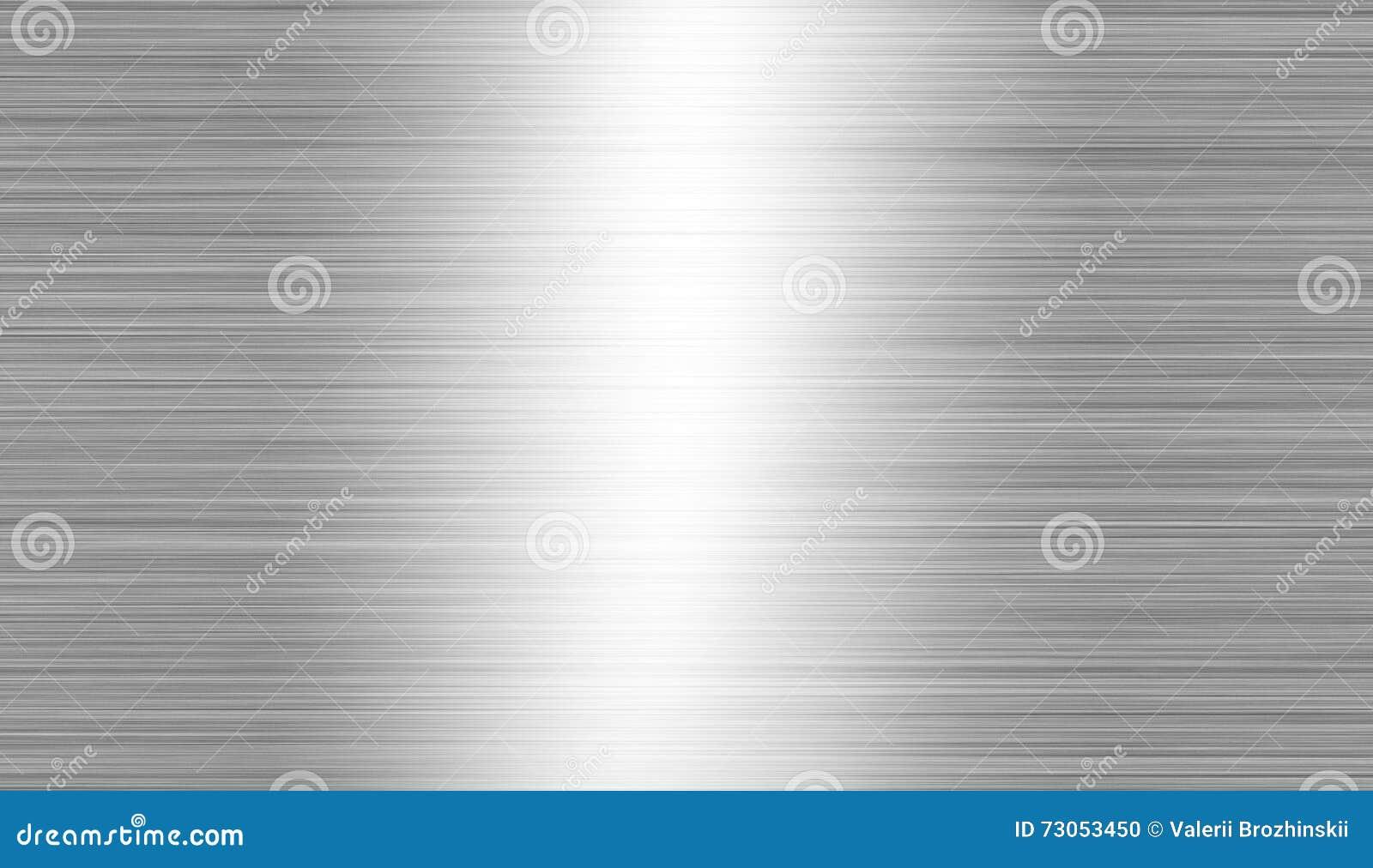 Почищенный щеткой металл: стальная или алюминиевая предпосылка текстуры