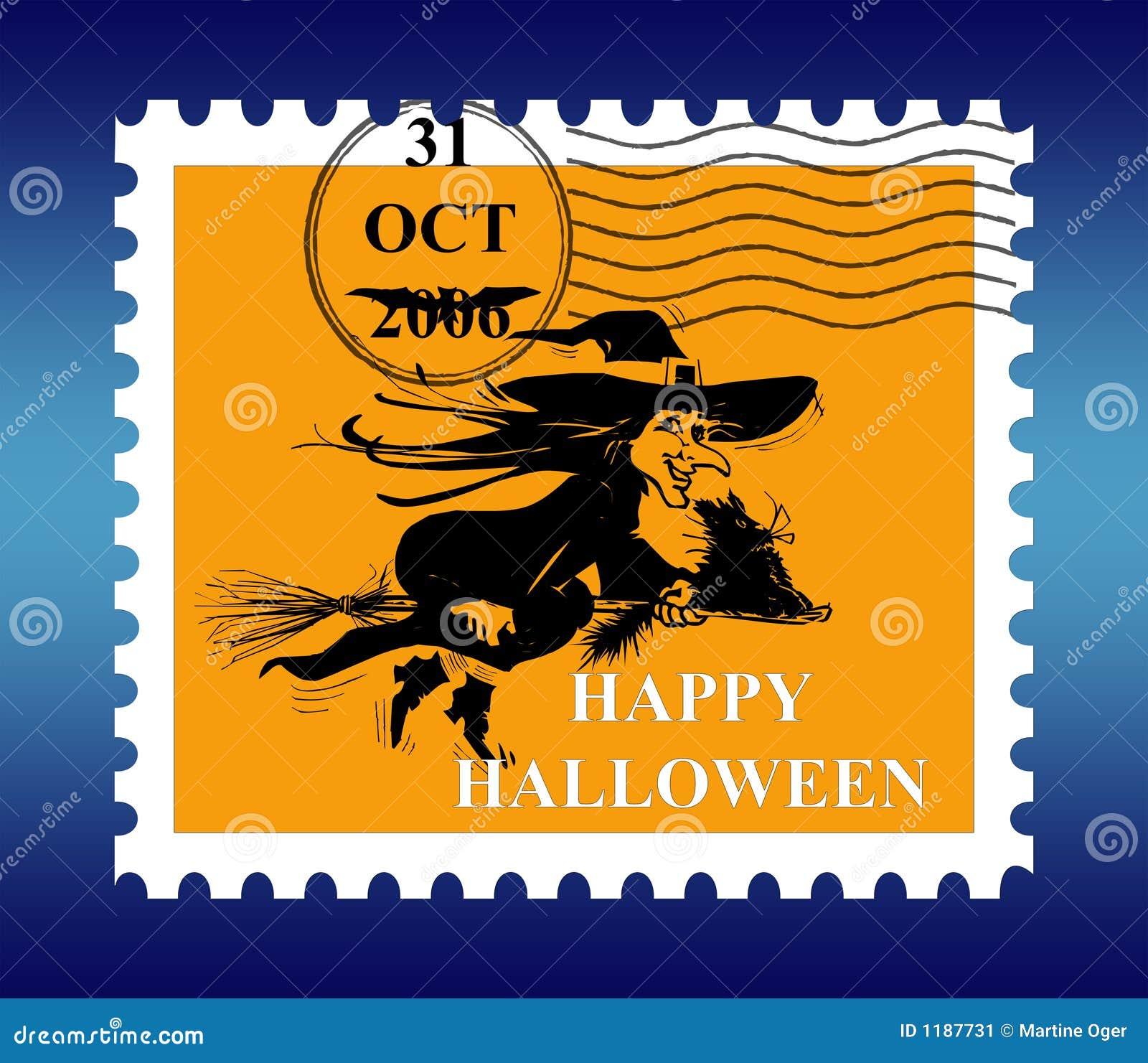 почтовая оплата halloween