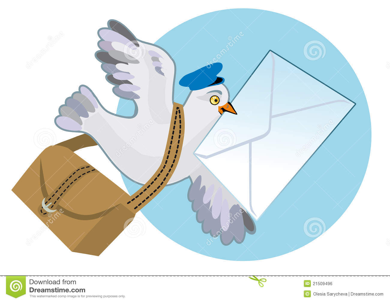 Картинка летит телеграмма