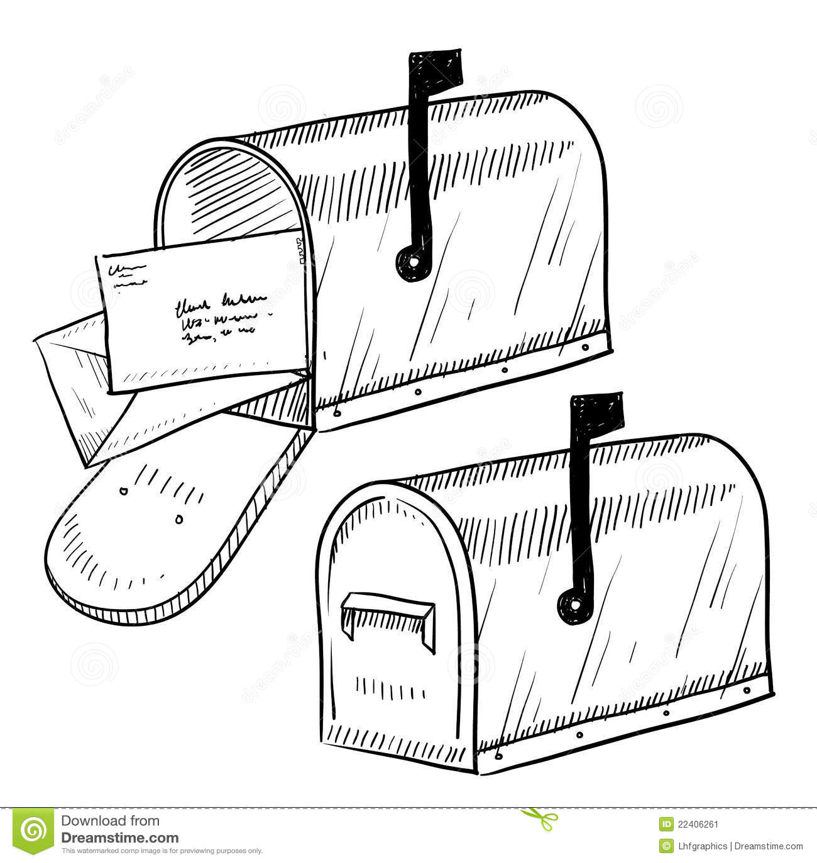 почтовый ящик чертежа