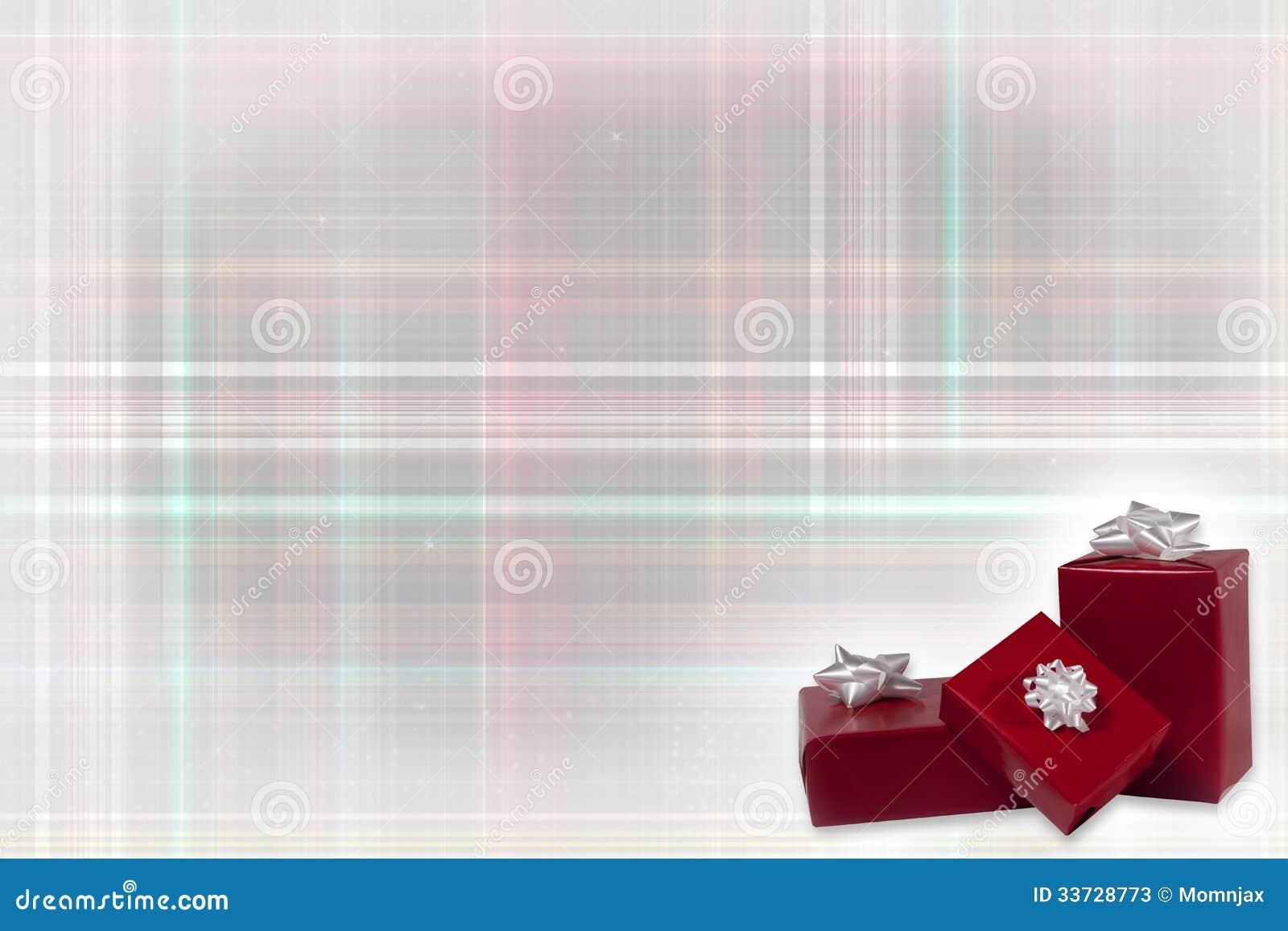 Подарки рождества на предпосылке шотландки рождества