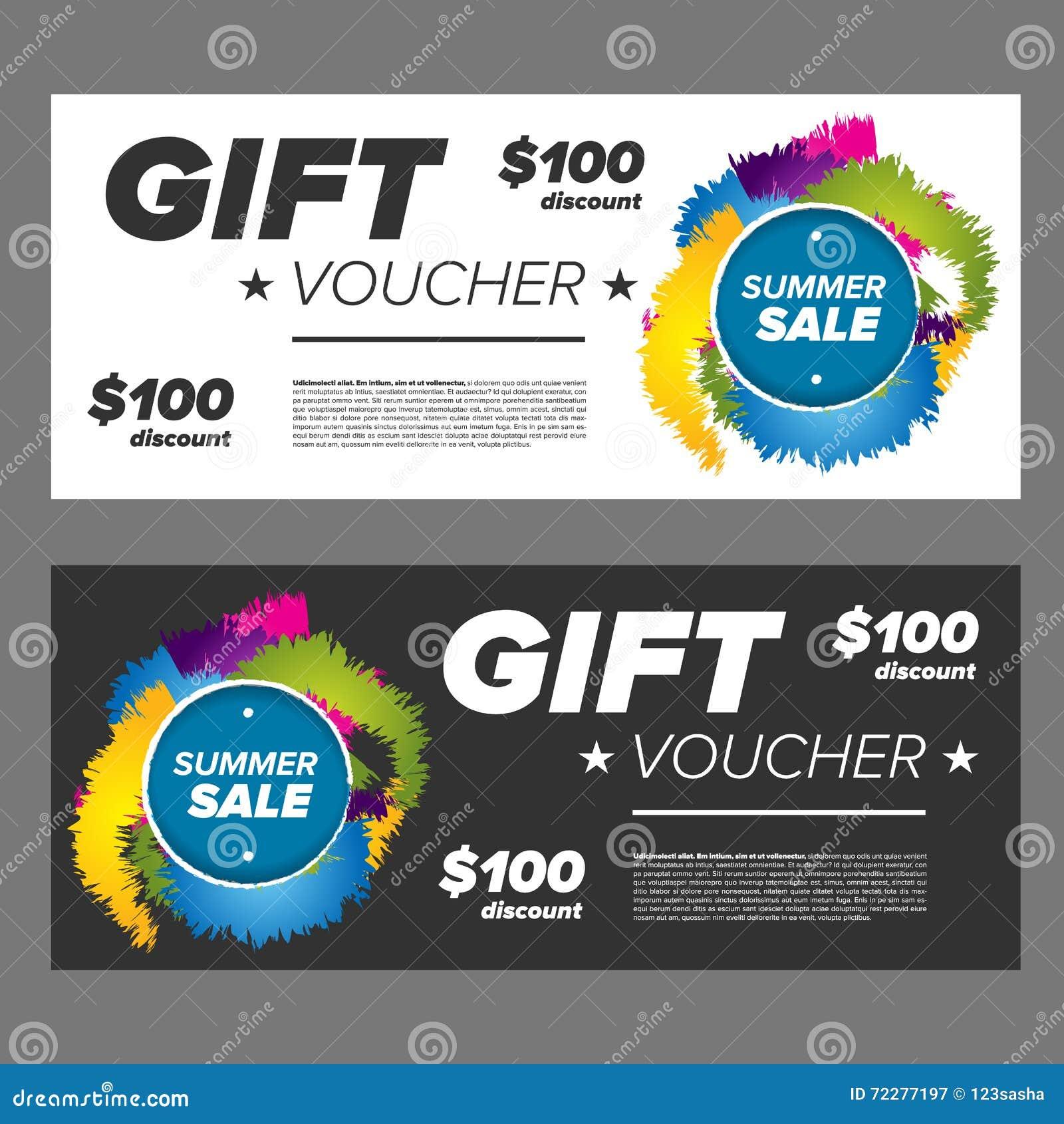 Download Подарочный сертификат продажи лета Стоковое Изображение - изображение насчитывающей карточка, сбывание: 72277197