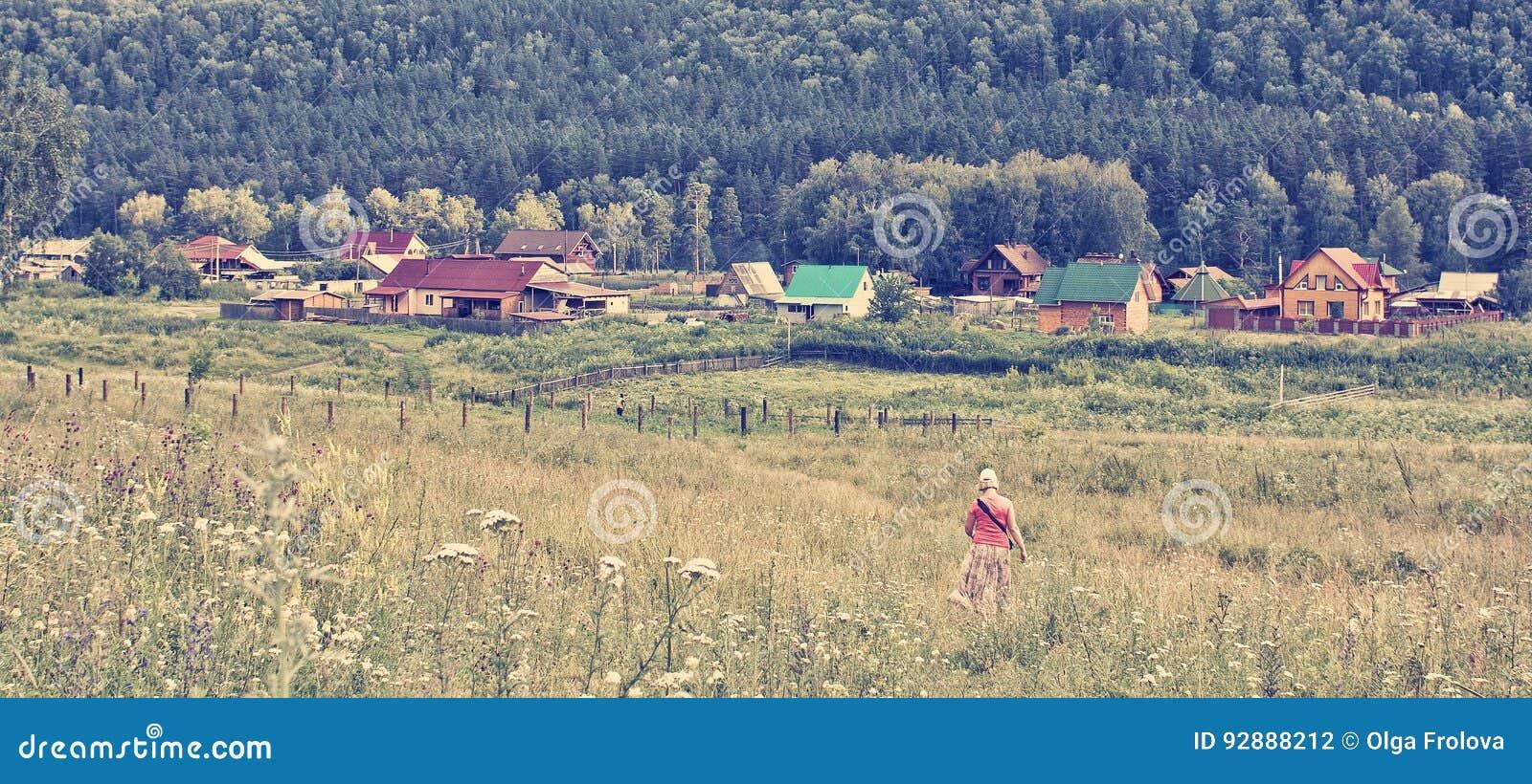 Полдень лета в горном селе