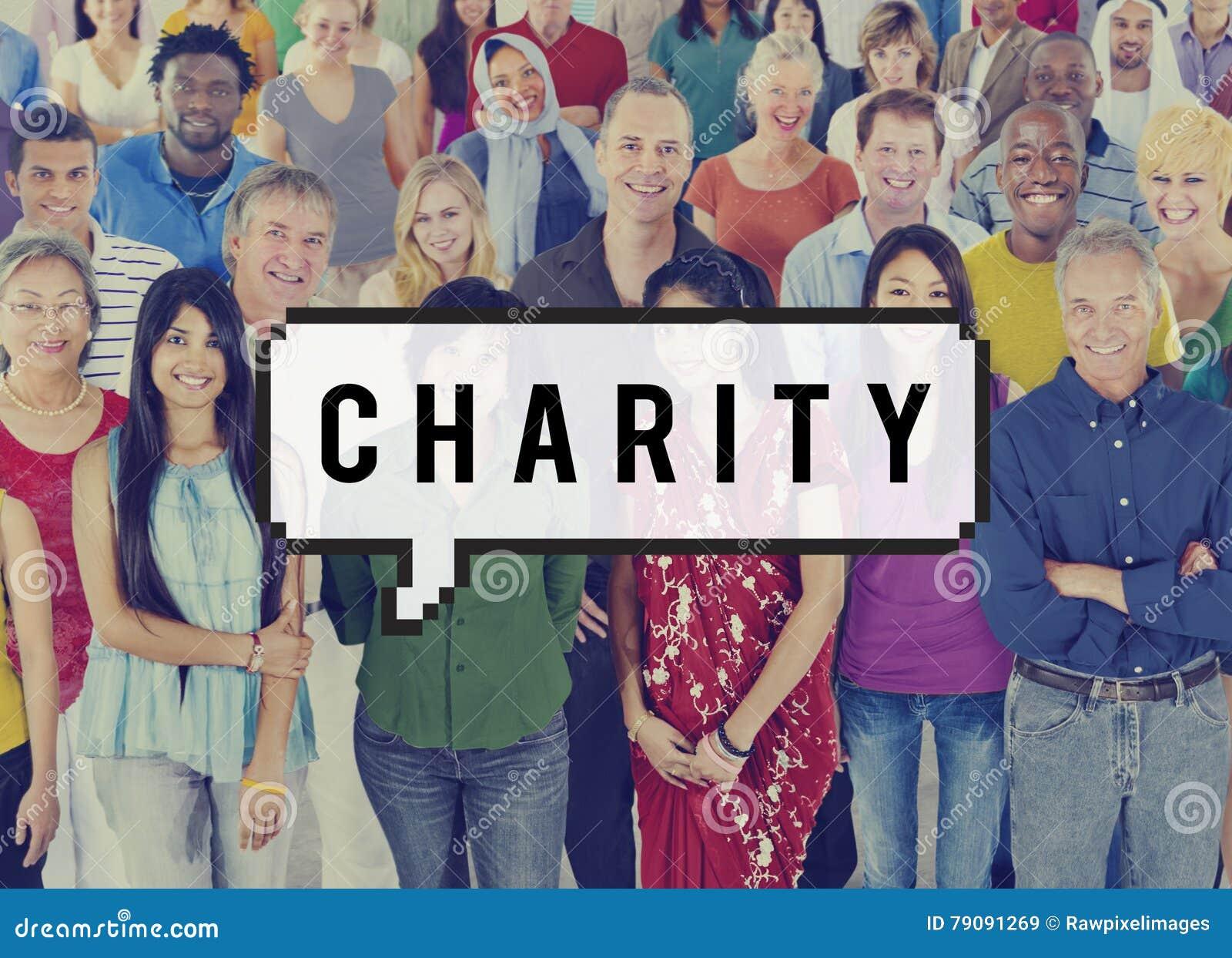 Поддержка шедрости пожертвования благосостояния призрения дает концепцию помощи