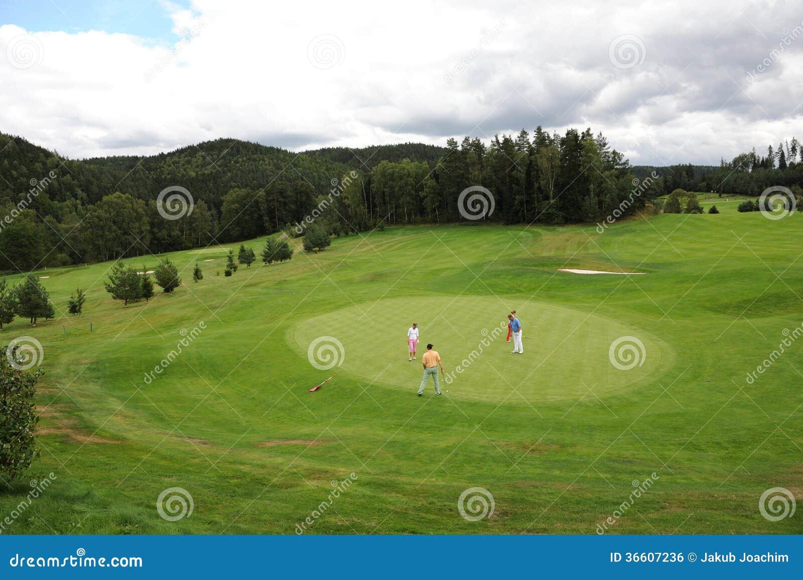 Поле для гольфа - чехия
