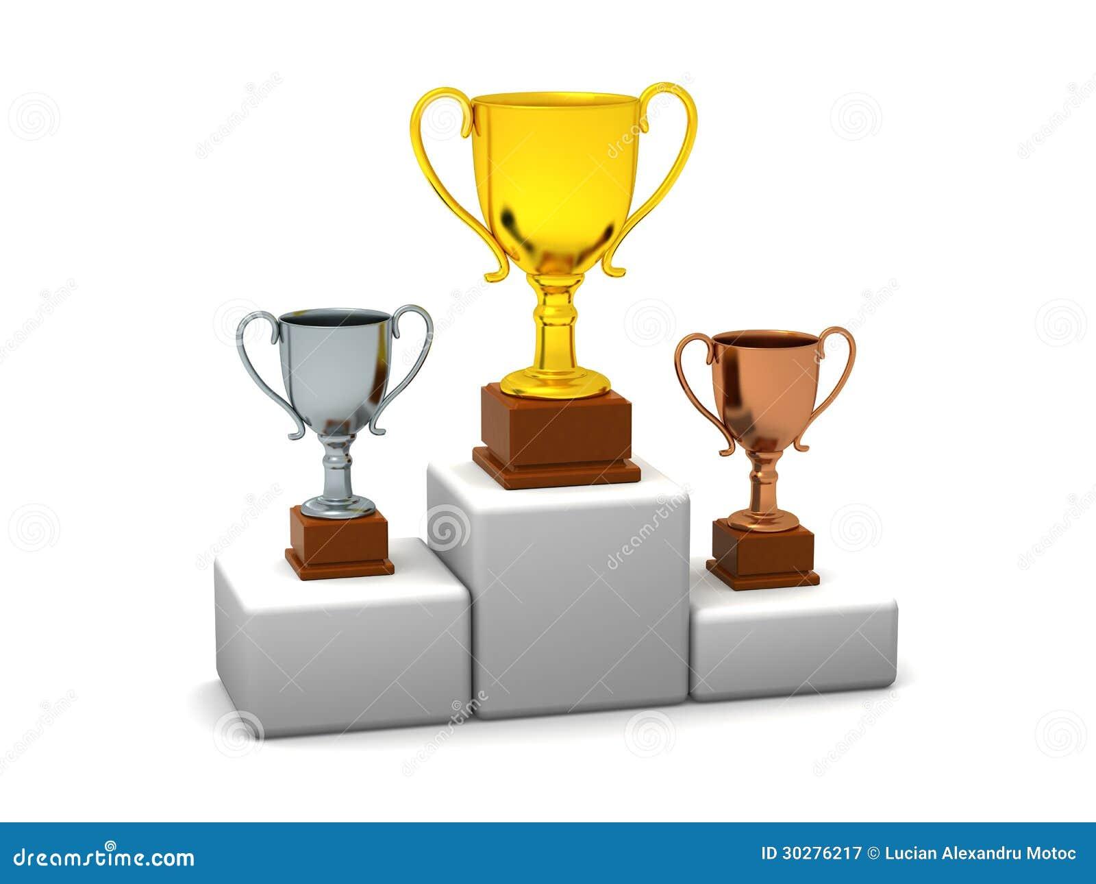 Подиум с трофеями