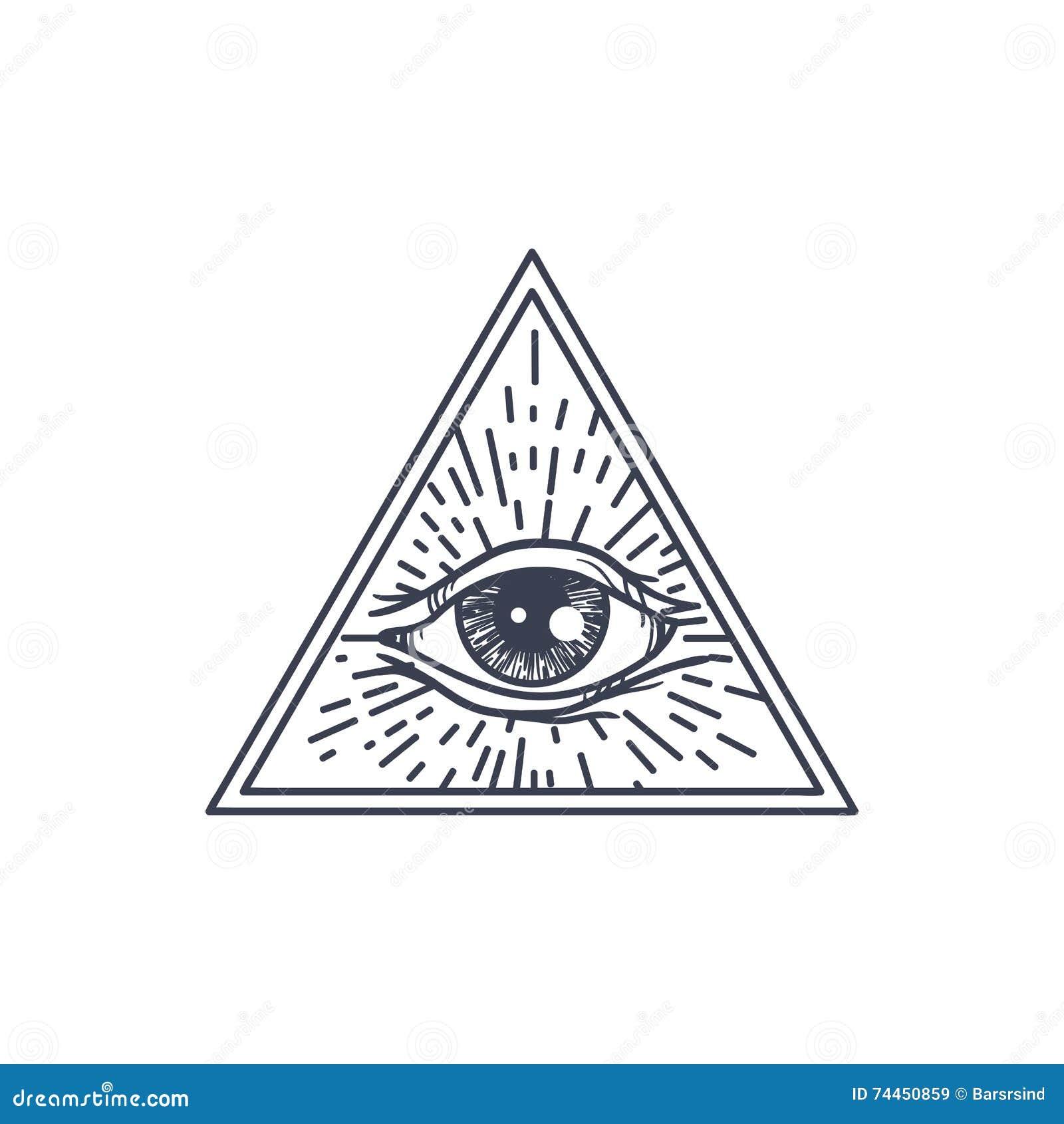 Полностью видя глаз в треугольнике