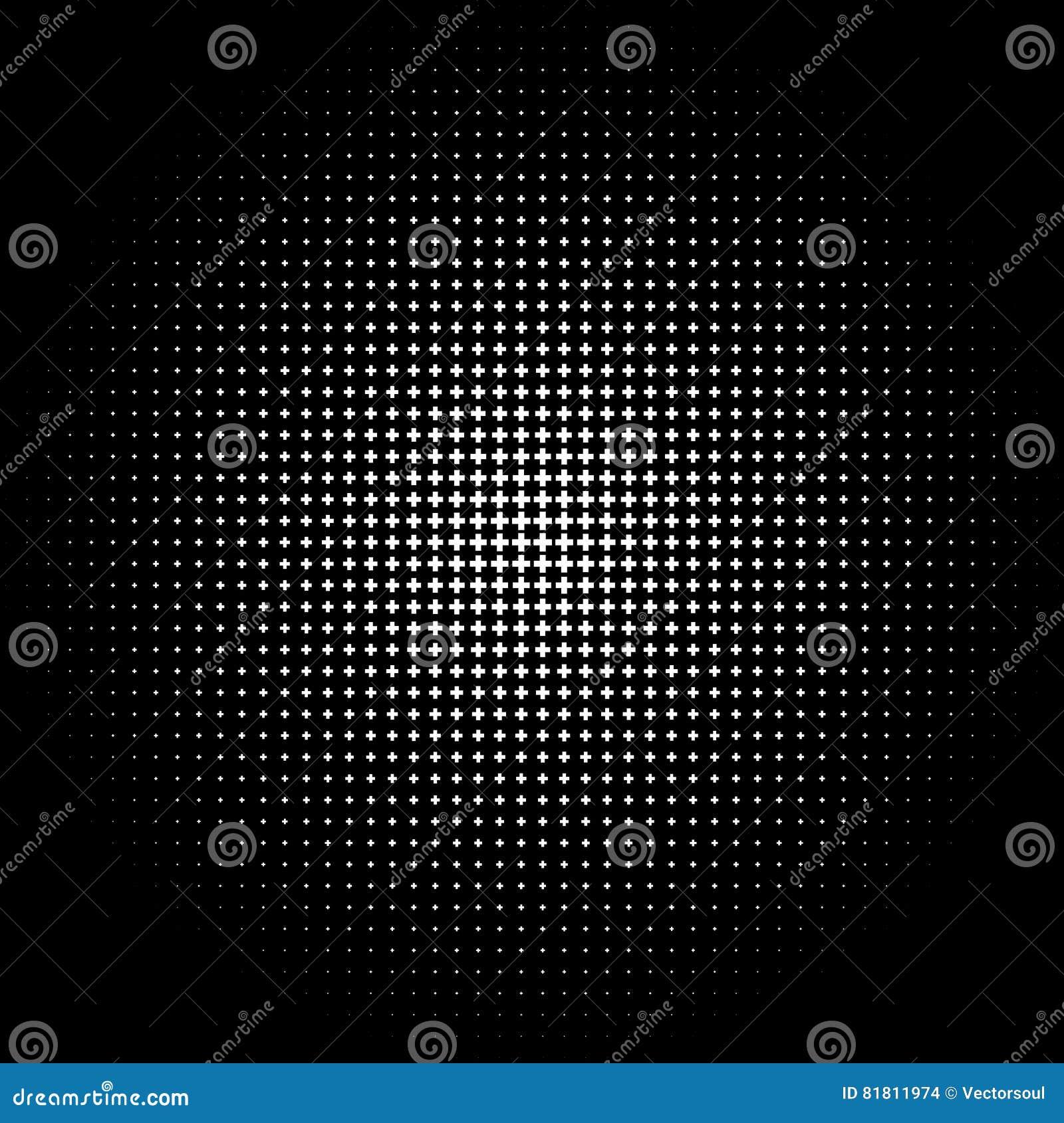 Полутоновое изображение любит элемент крестов Однокрасочное абстрактное изображение