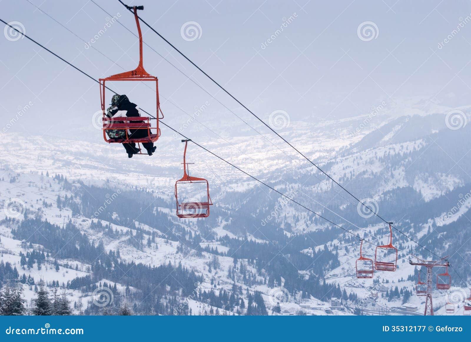 Подъем стула лыжи