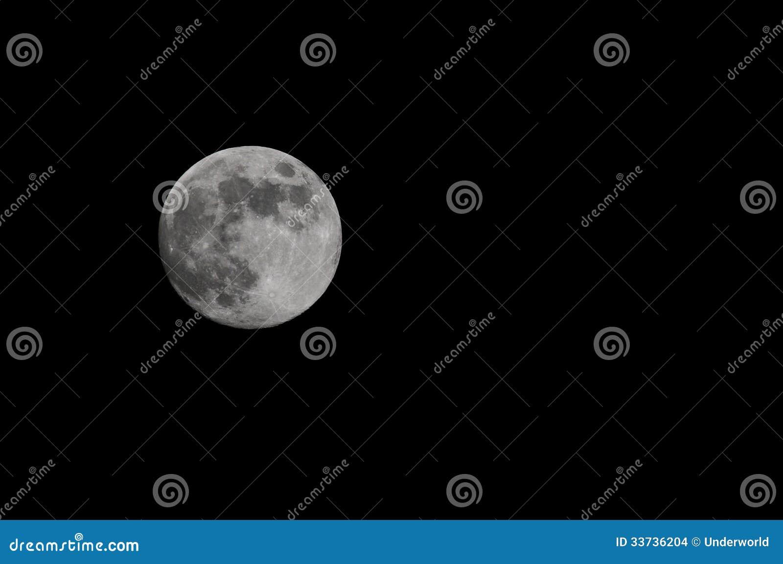 Польностью белая луна