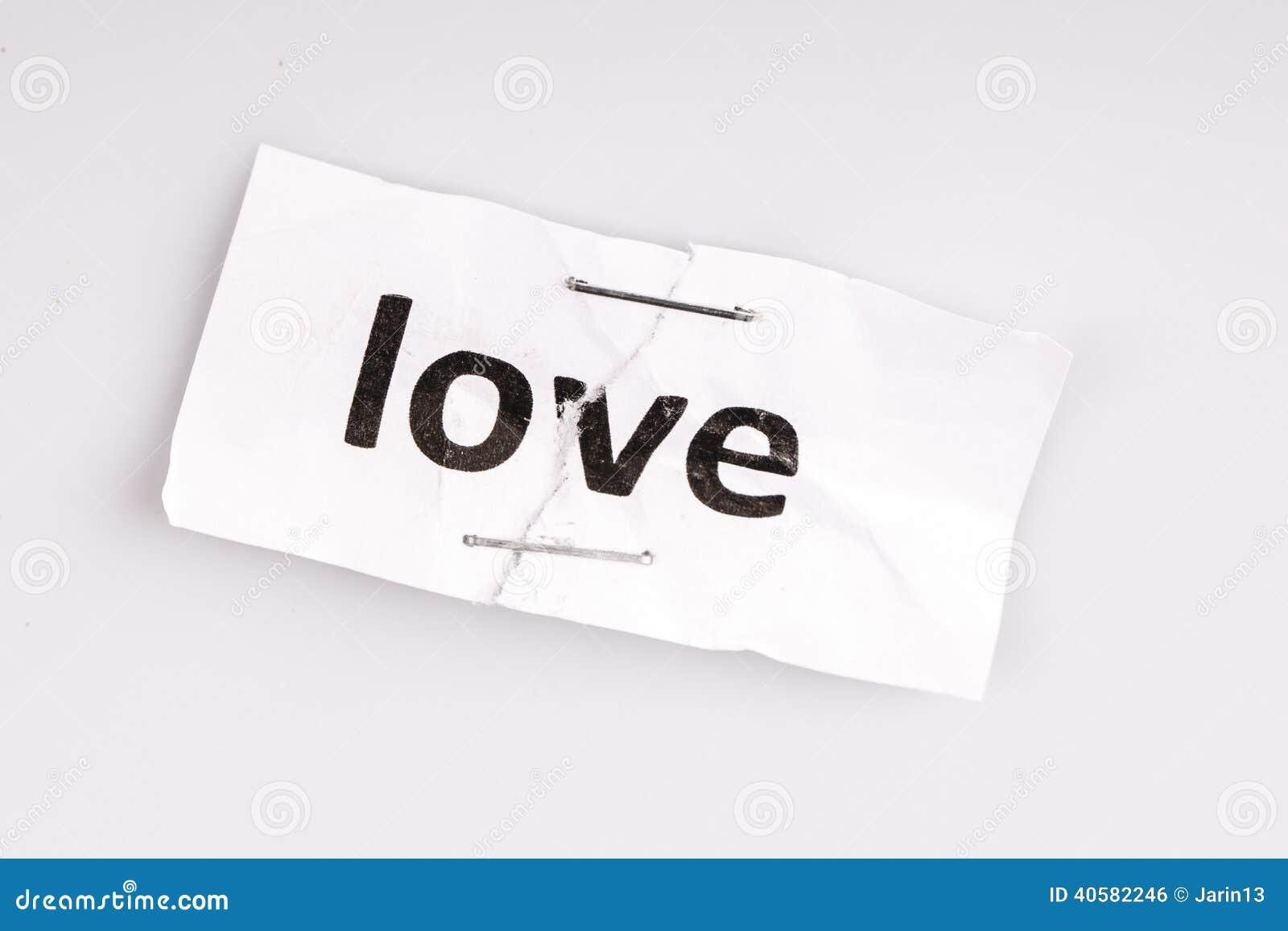 Полюбите слово написанное на сорванной и скрепленной бумаге