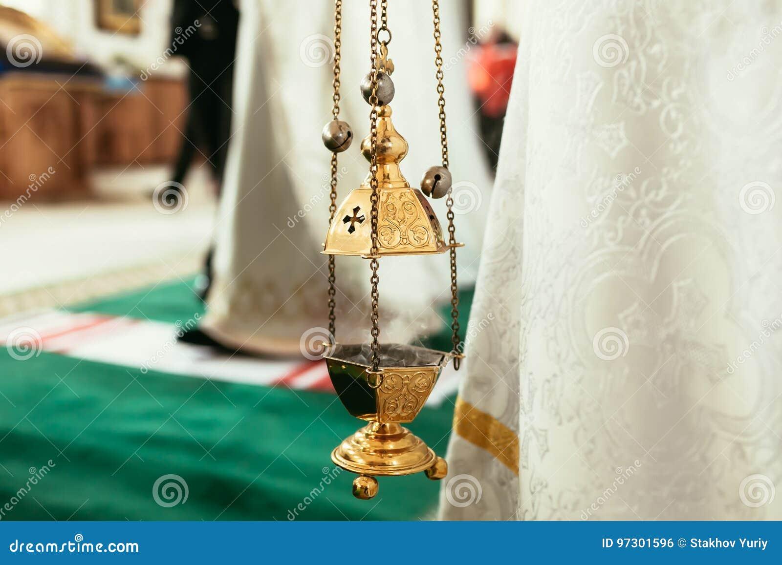 Правоверная лампа значка Атрибут церков Церковь Lampstand Христианство и вера Религиозный висок Молитва и епитимия